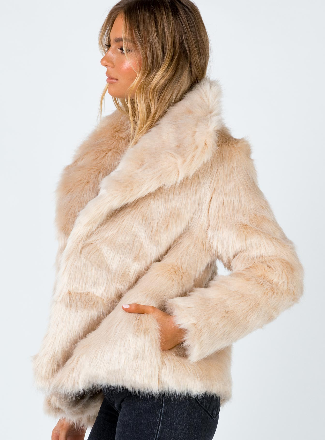 Jagger Faux Fur Jacket Natural