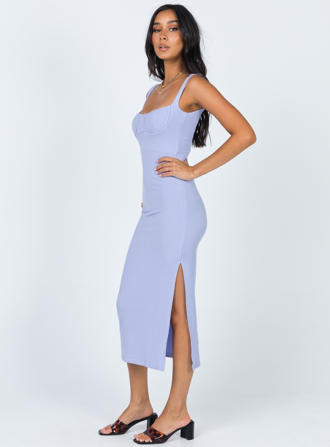 Esme Midi Dress Blue