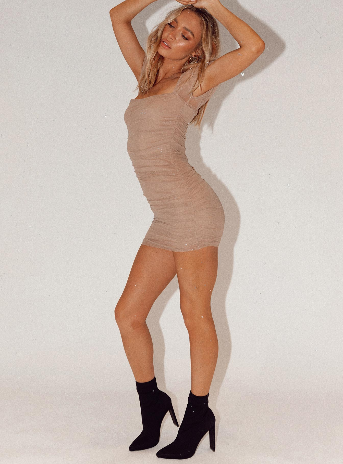 Charvi Mini Dress Tan