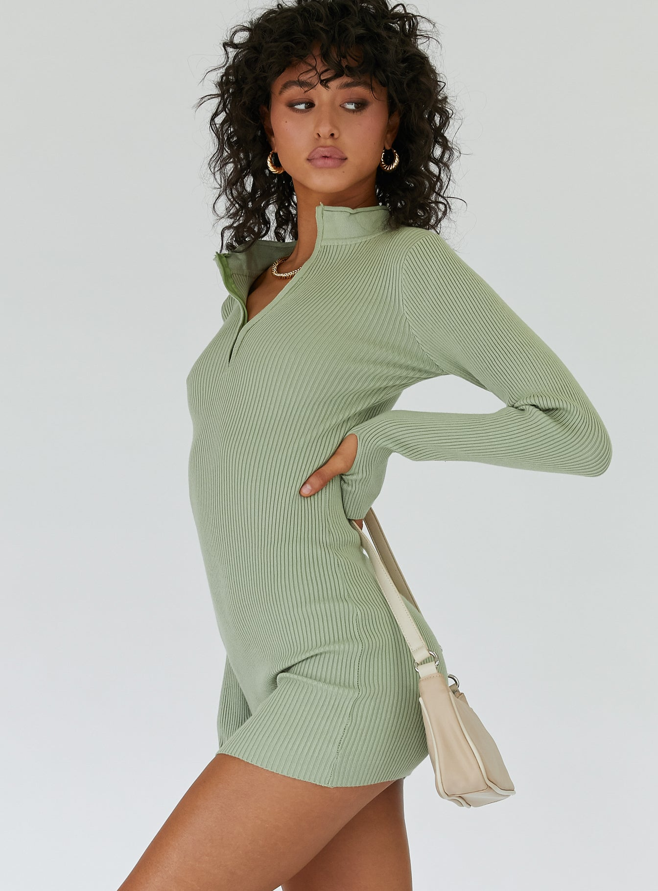 Aubrey Mini Dress Pistachio