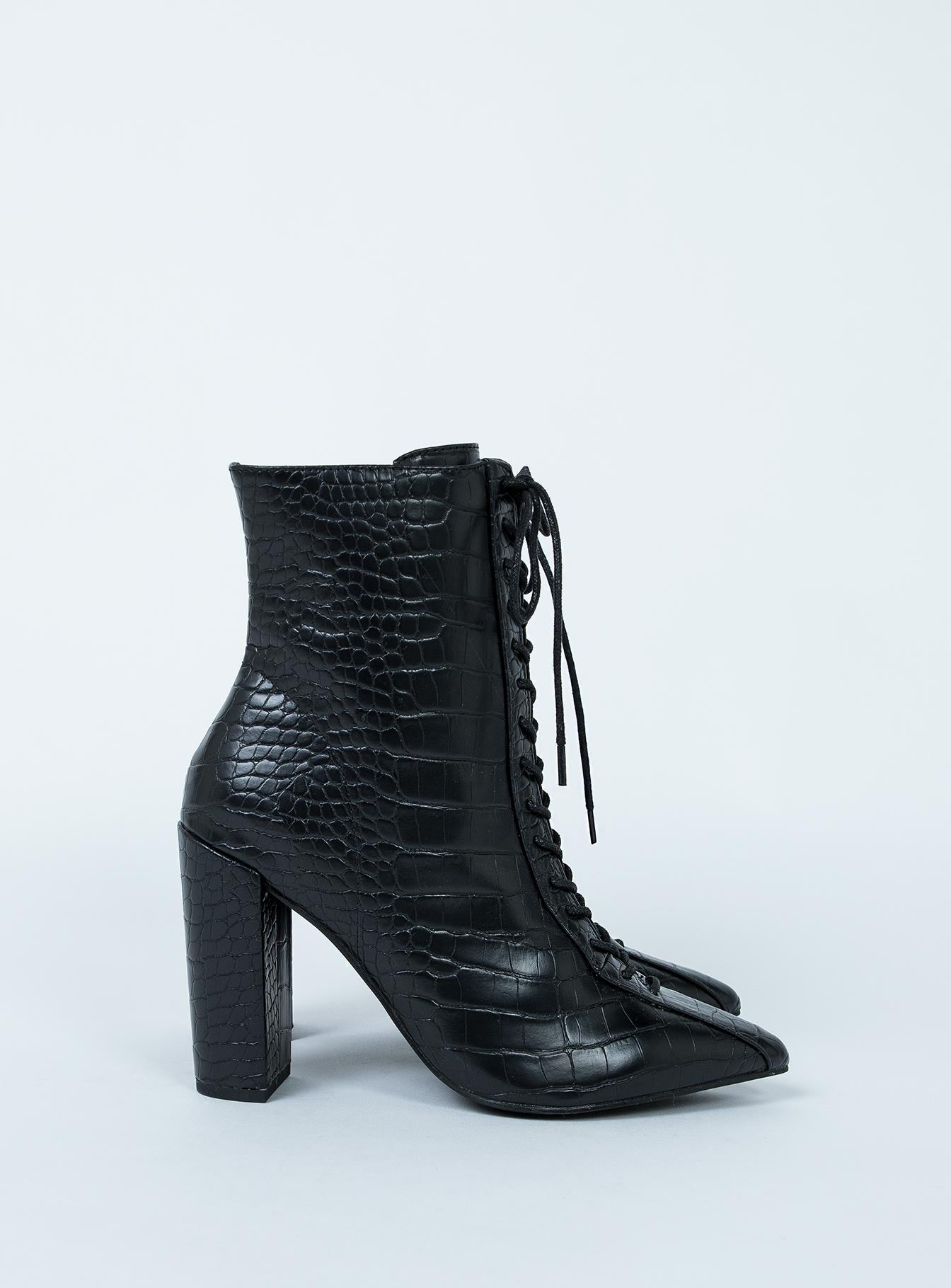 Therapy Paisley Boot Black Croc
