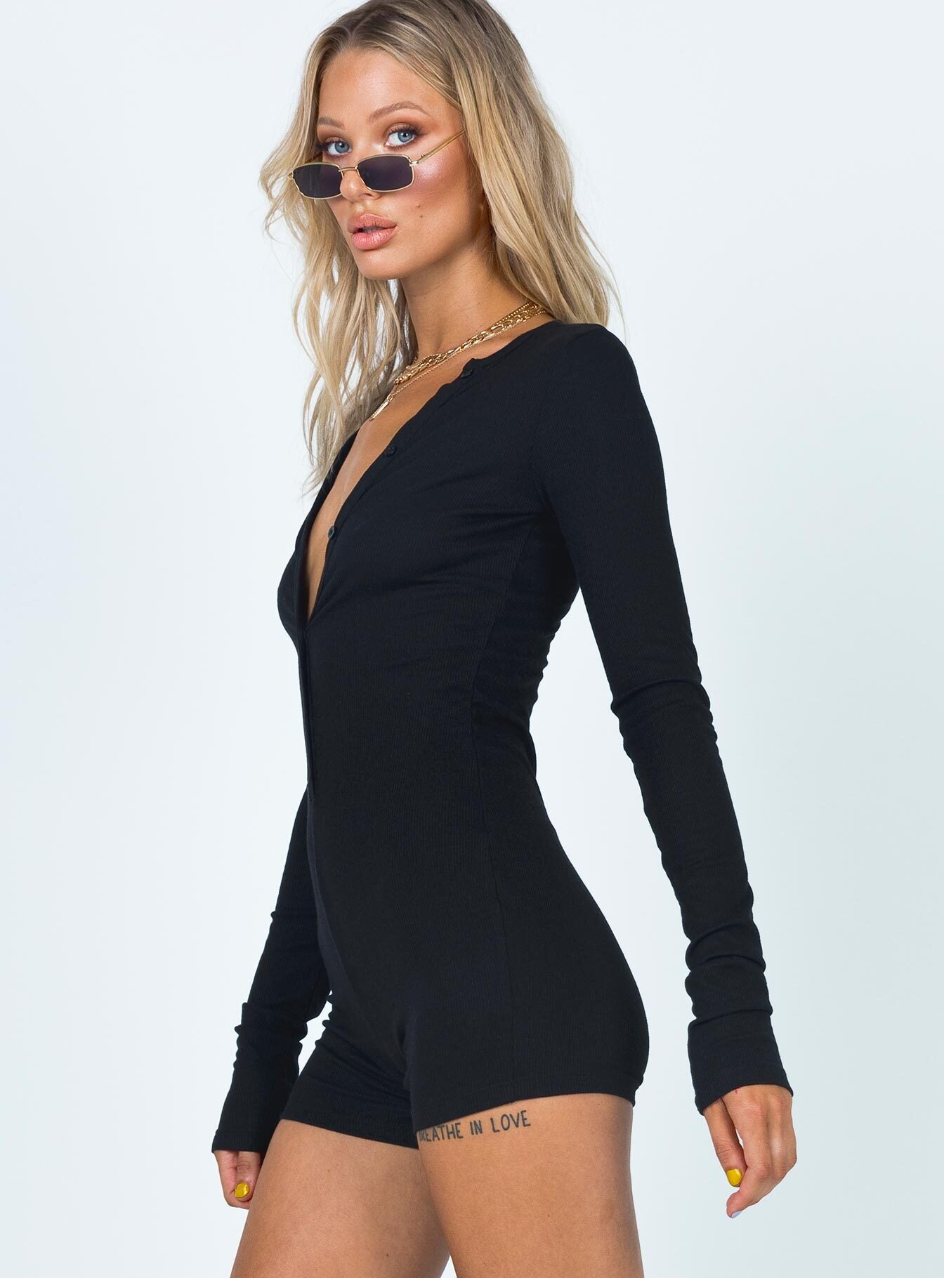 Angel Romper Black