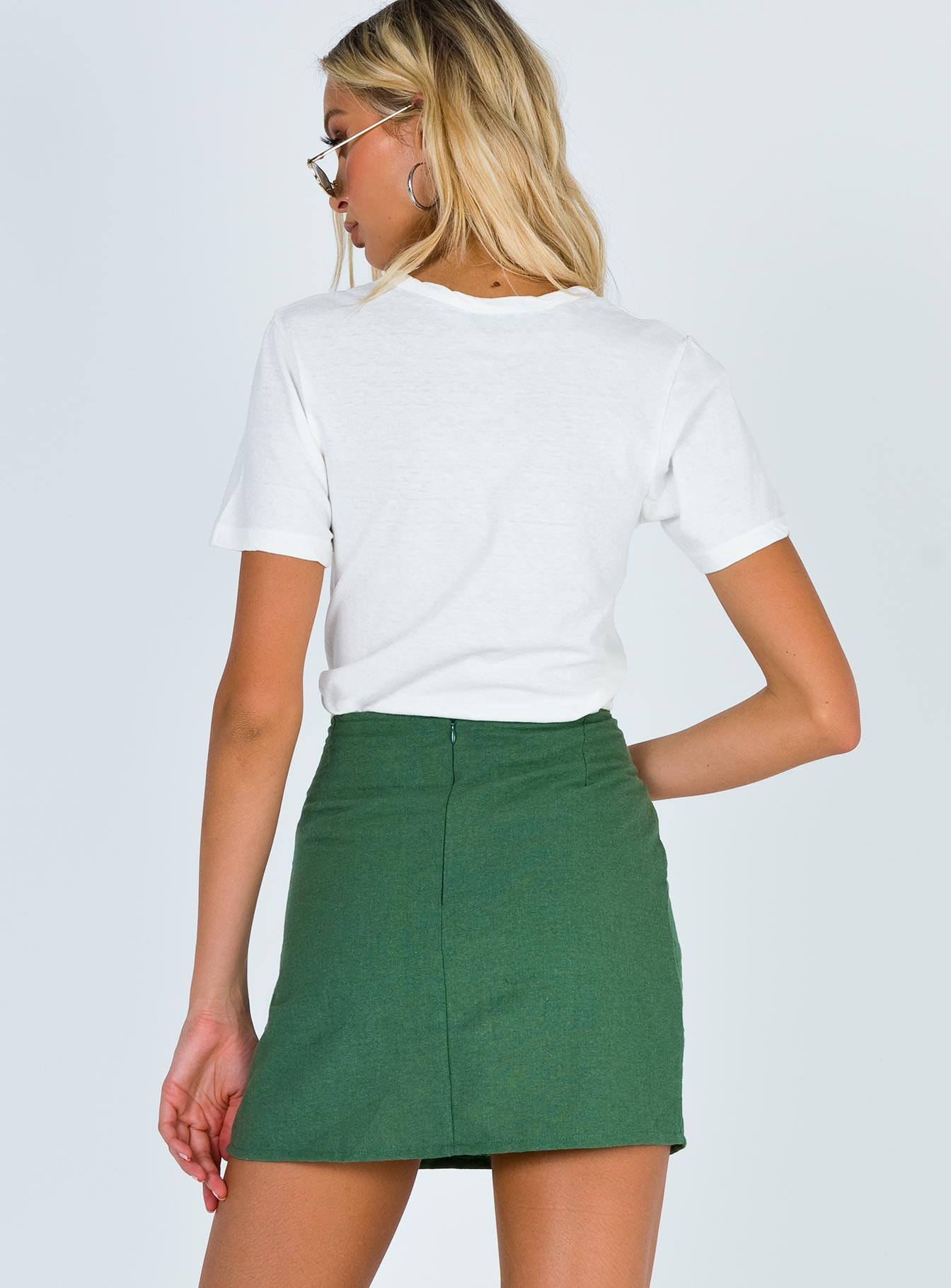 Motel Sheny Mini Skirt Sage