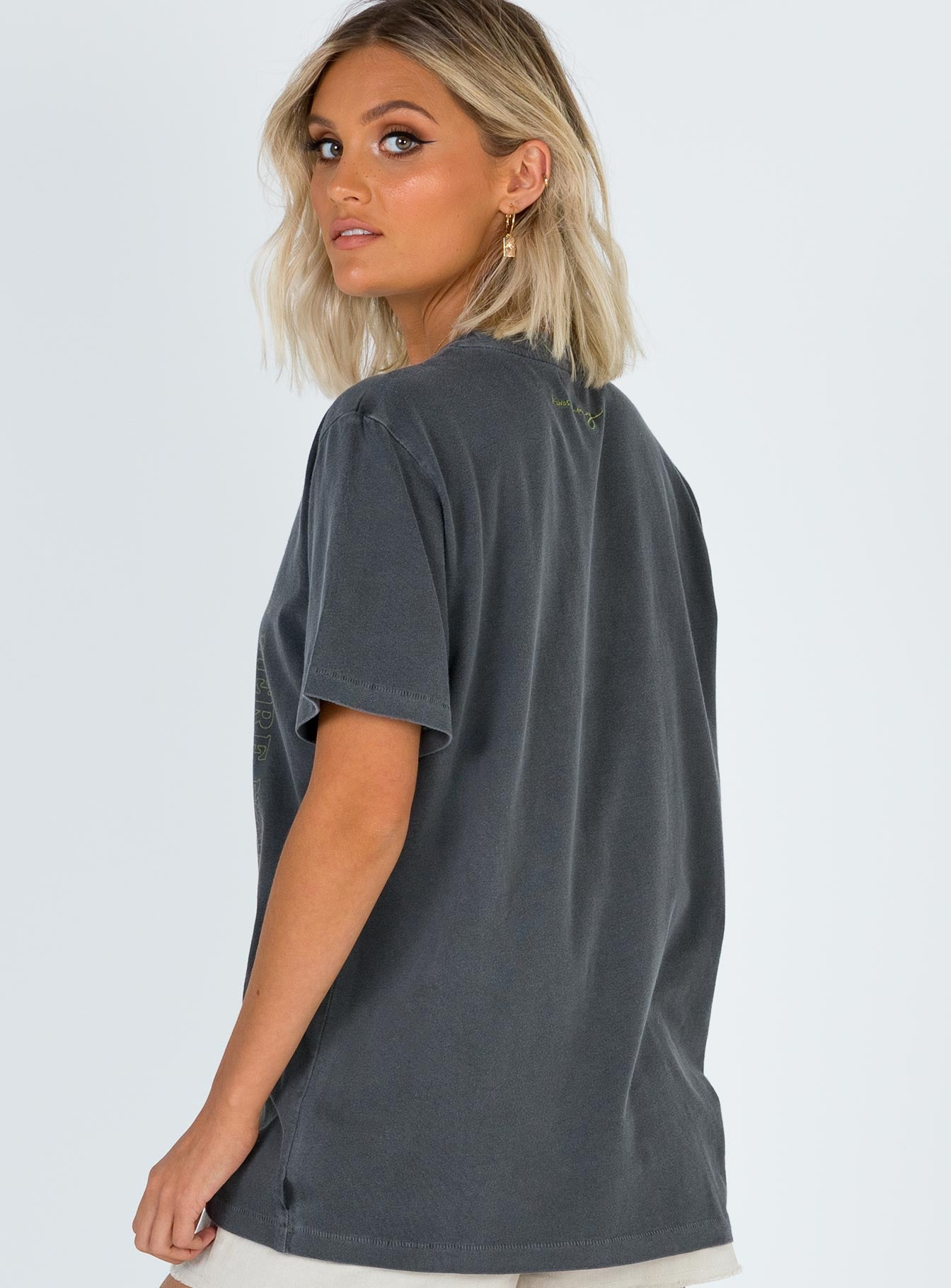 Afends Here Now Tee Washed Black