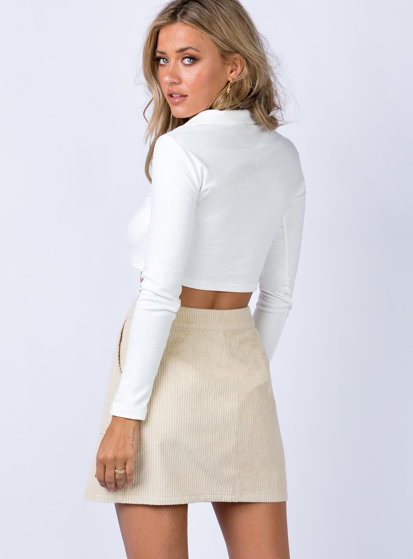 Frandsen Mini Skirt Beige