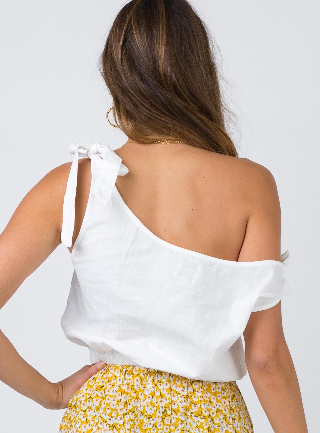 Sienna Crop Top White