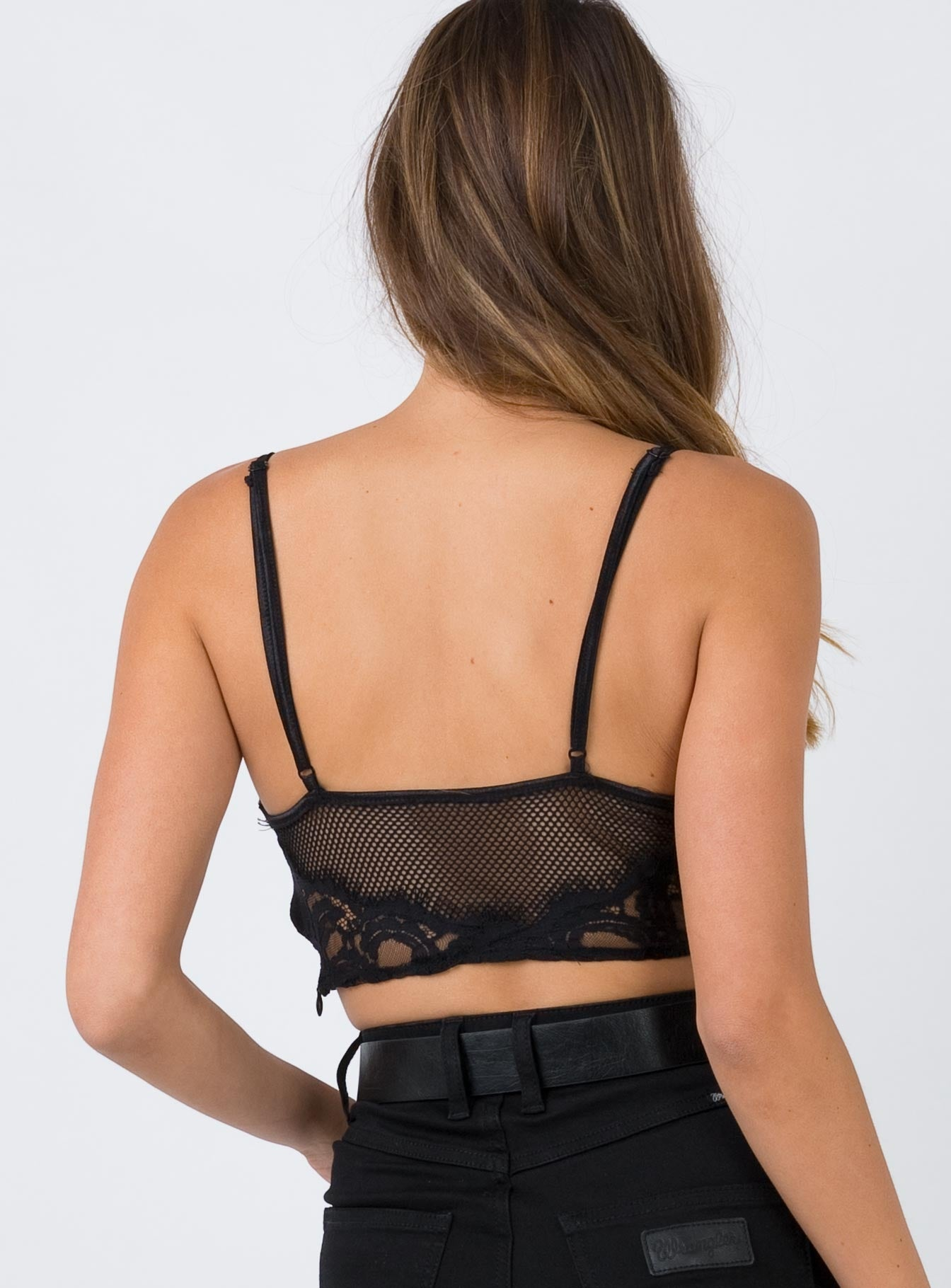 Eleri Crop Top Black