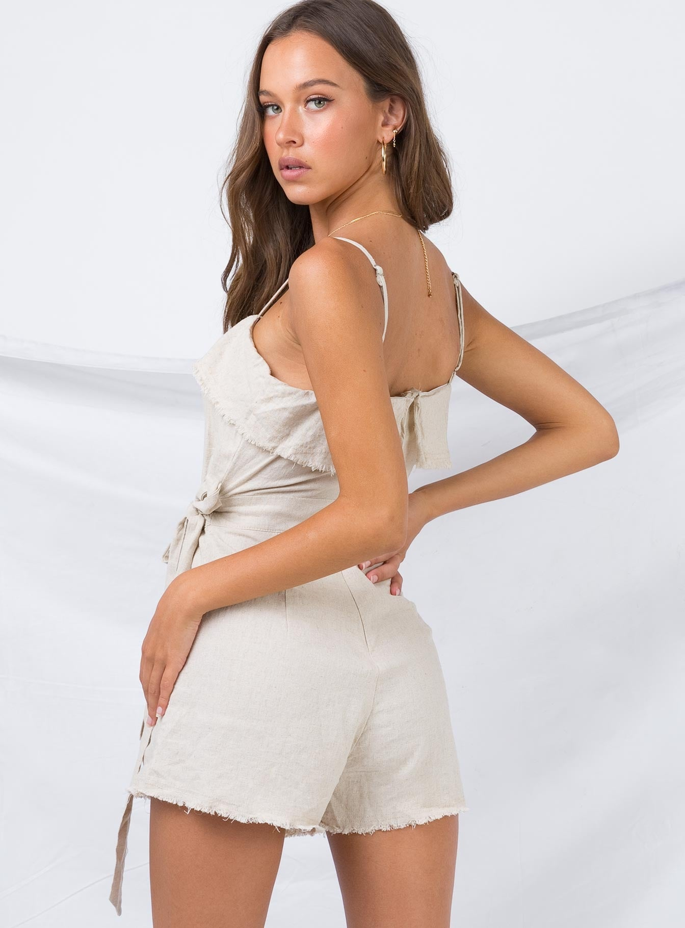 Rally Playsuit Beige