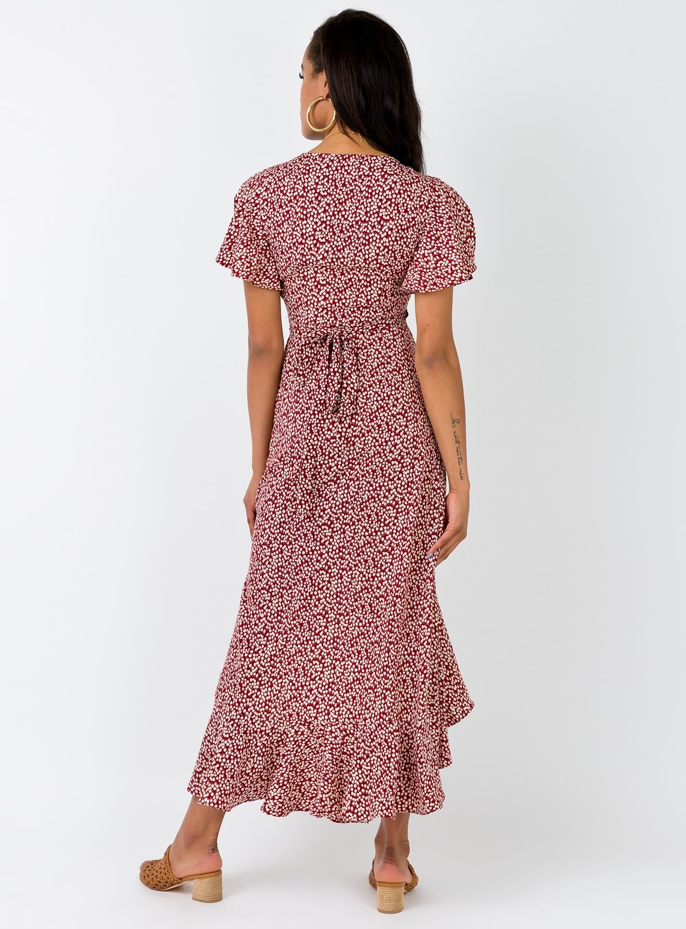 Moylan Maxi Dress Burgundy