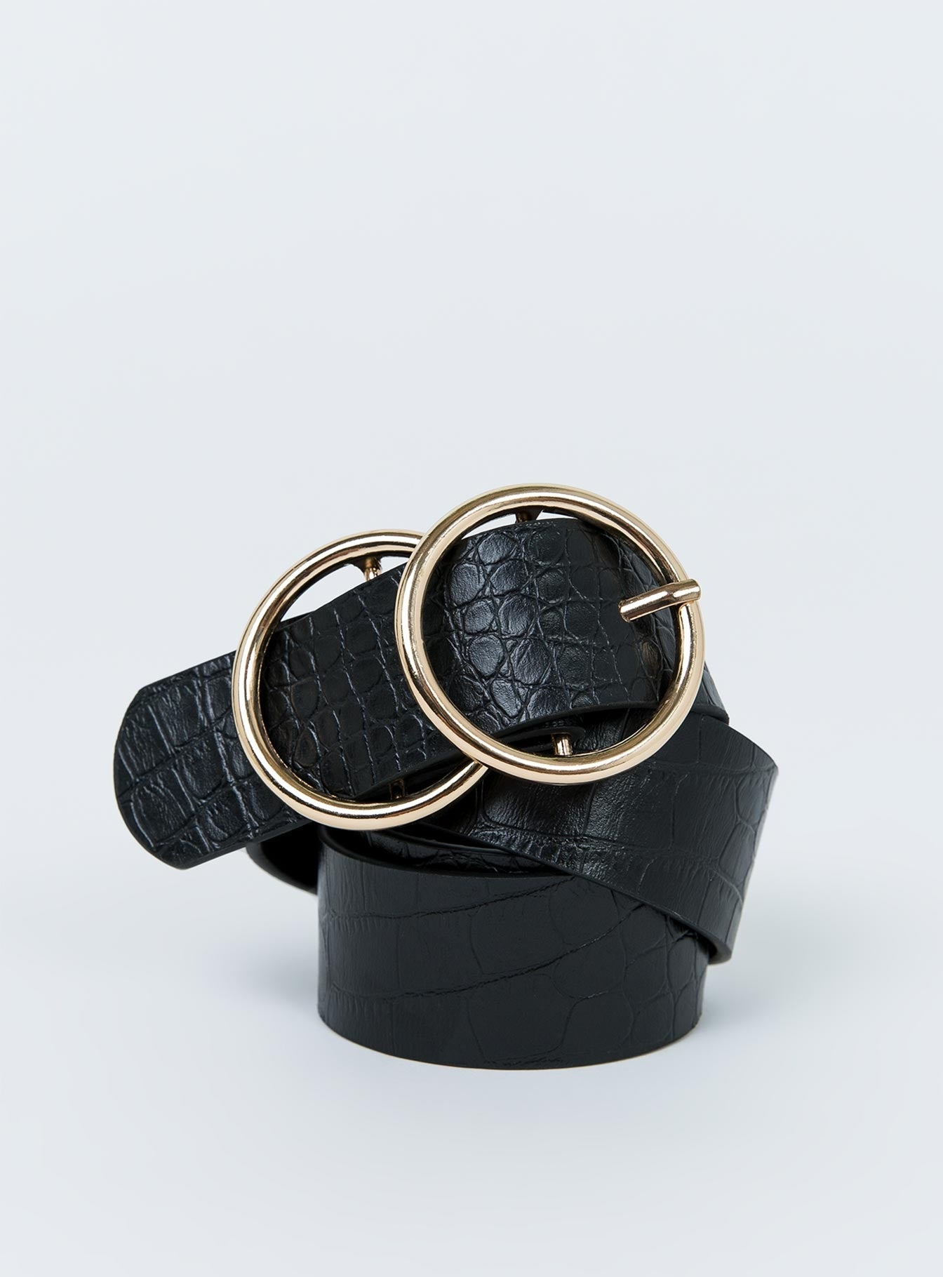 Croc Golden Girl Belt Gold Black/Gold