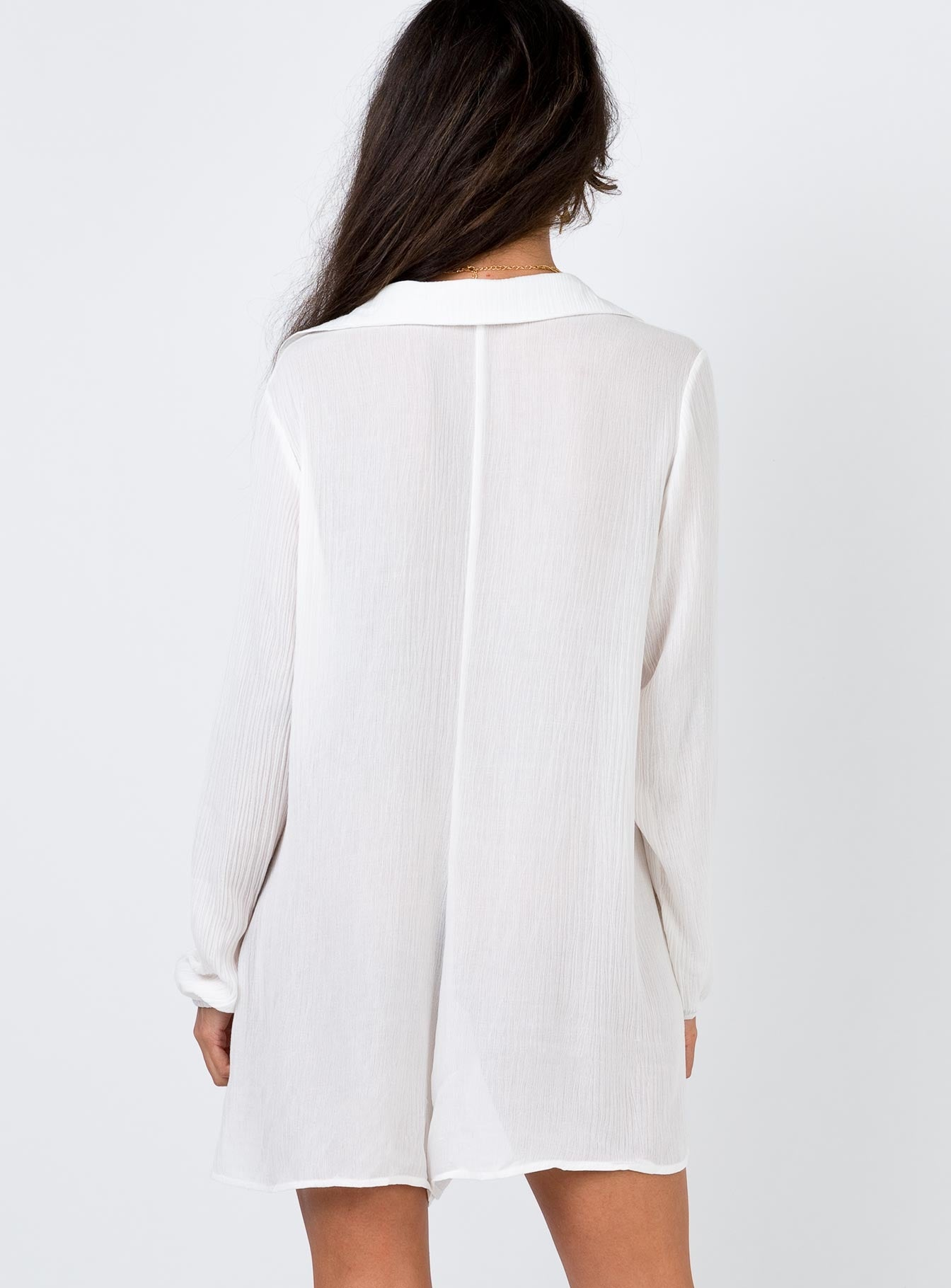 The Mali Playsuit White