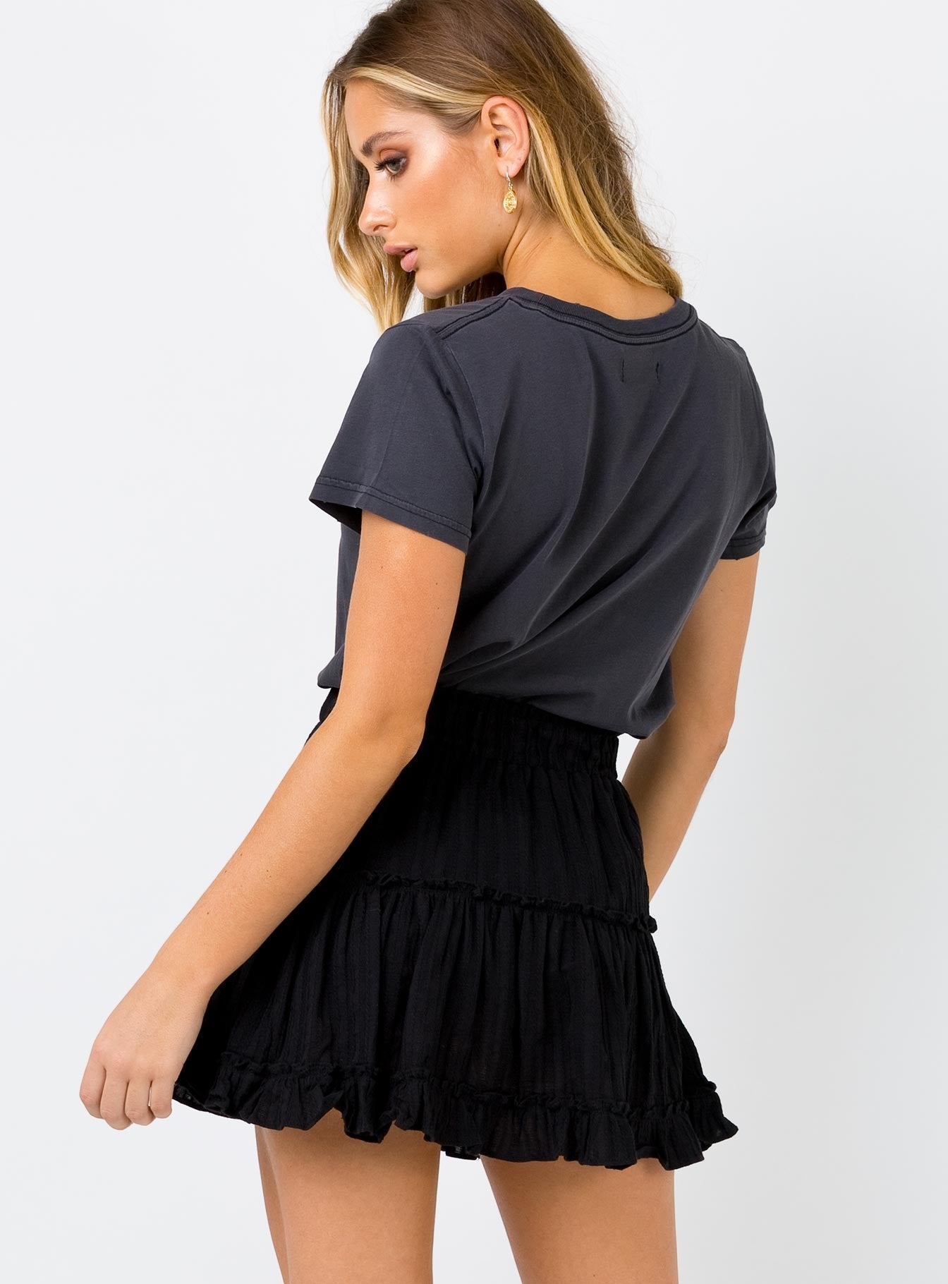 Madalaine Black Mini Skirt