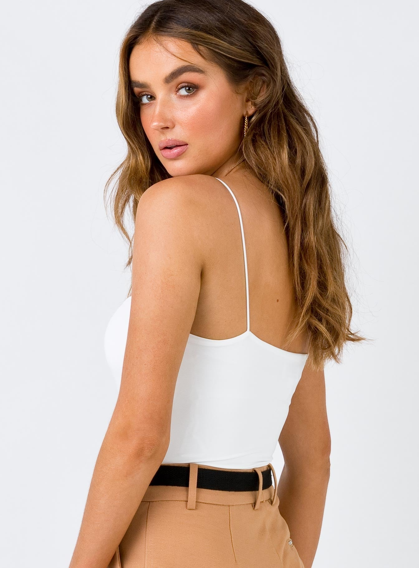 Straight Line Bodysuit White