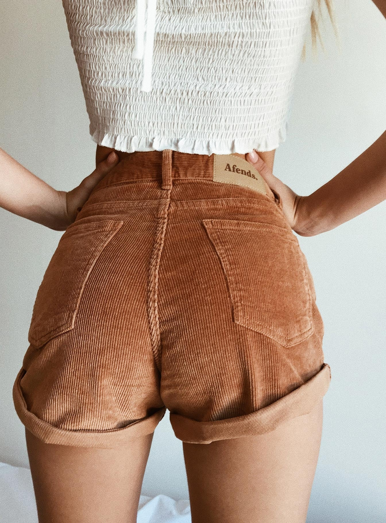 Afends Tyler Cord Corduroy Shorts Light Tan