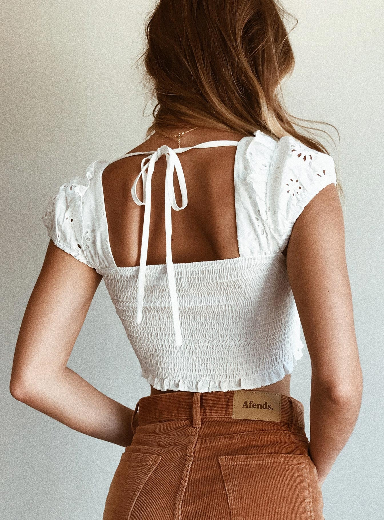 Odesza Crop Top White