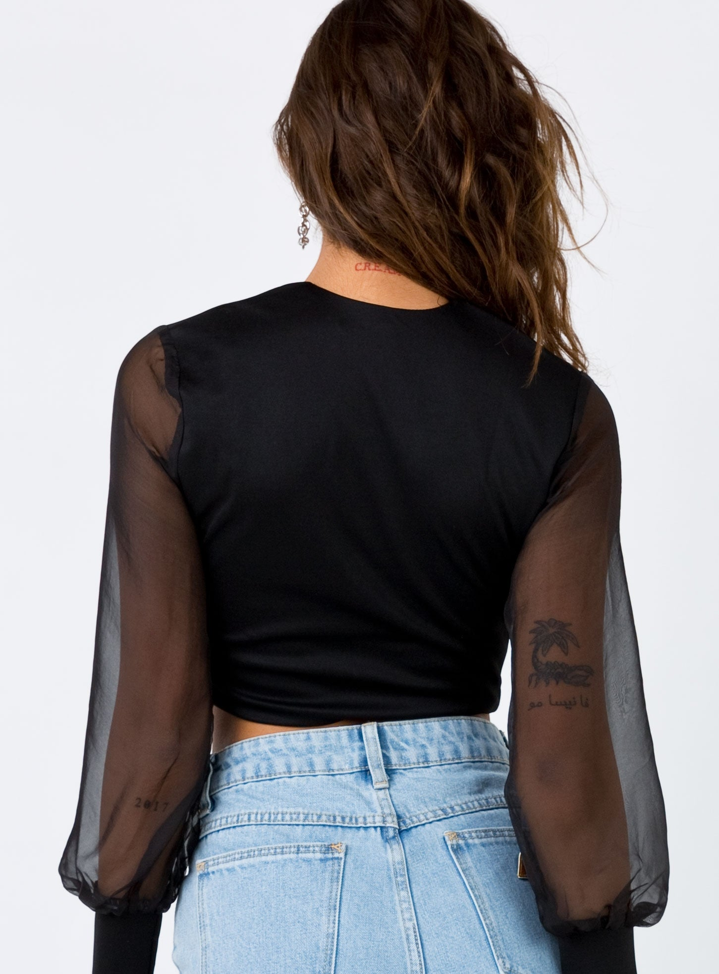 Ready Or Not Crop Top Black
