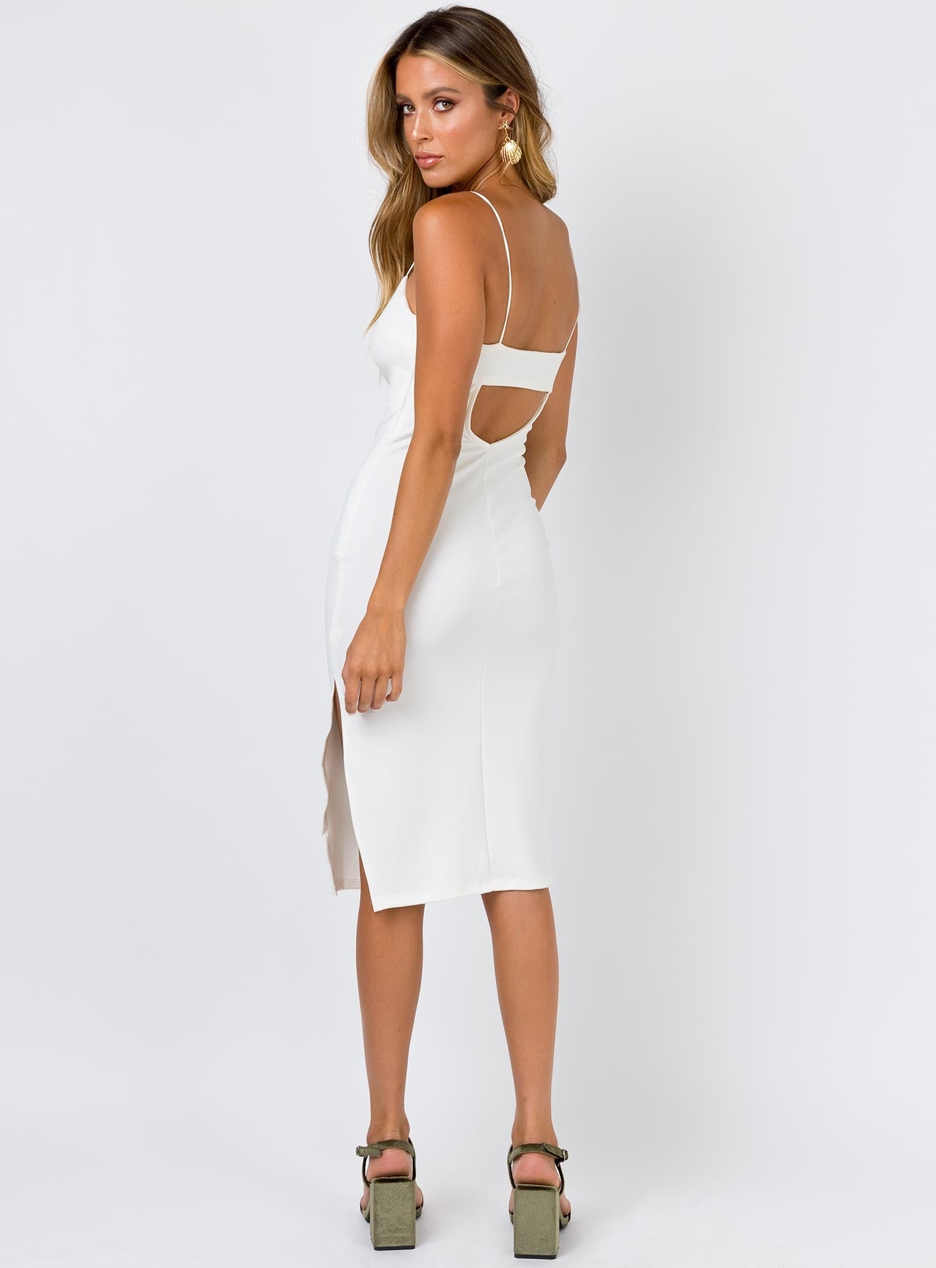Kiana Midi Dress White