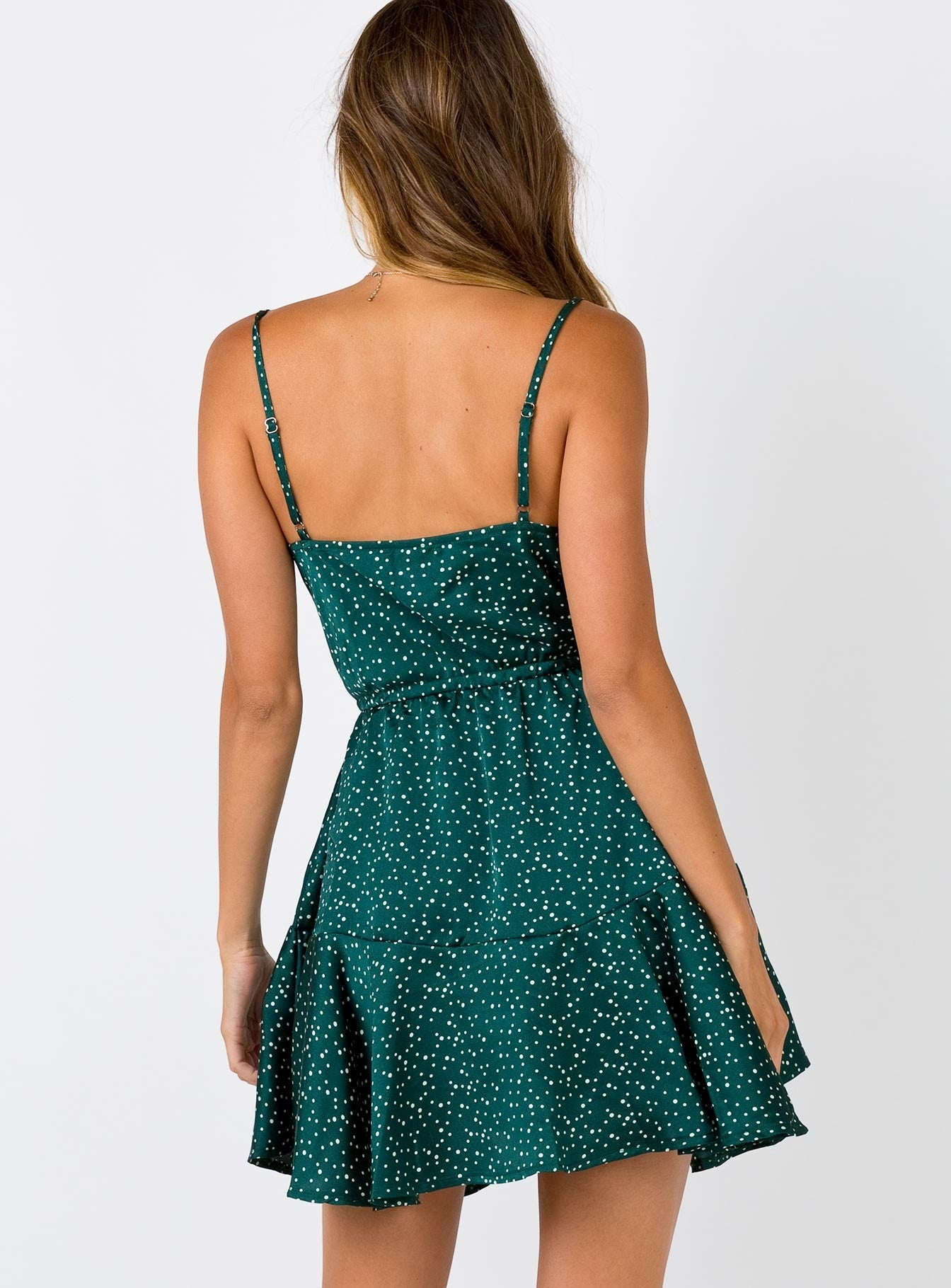 The Daizie Mini Dress Green