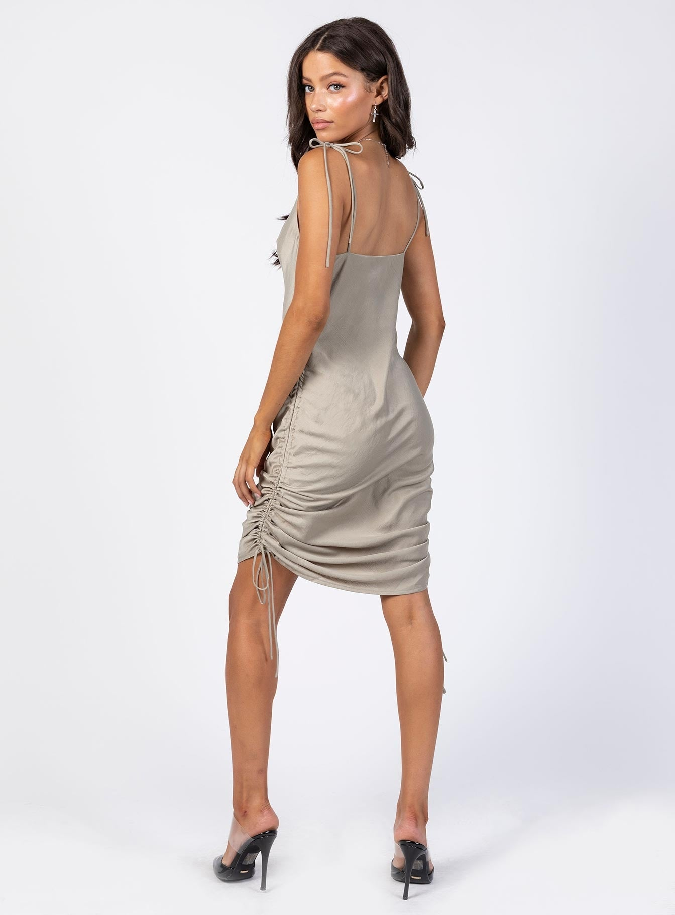 The Eryn Midi Dress Khaki