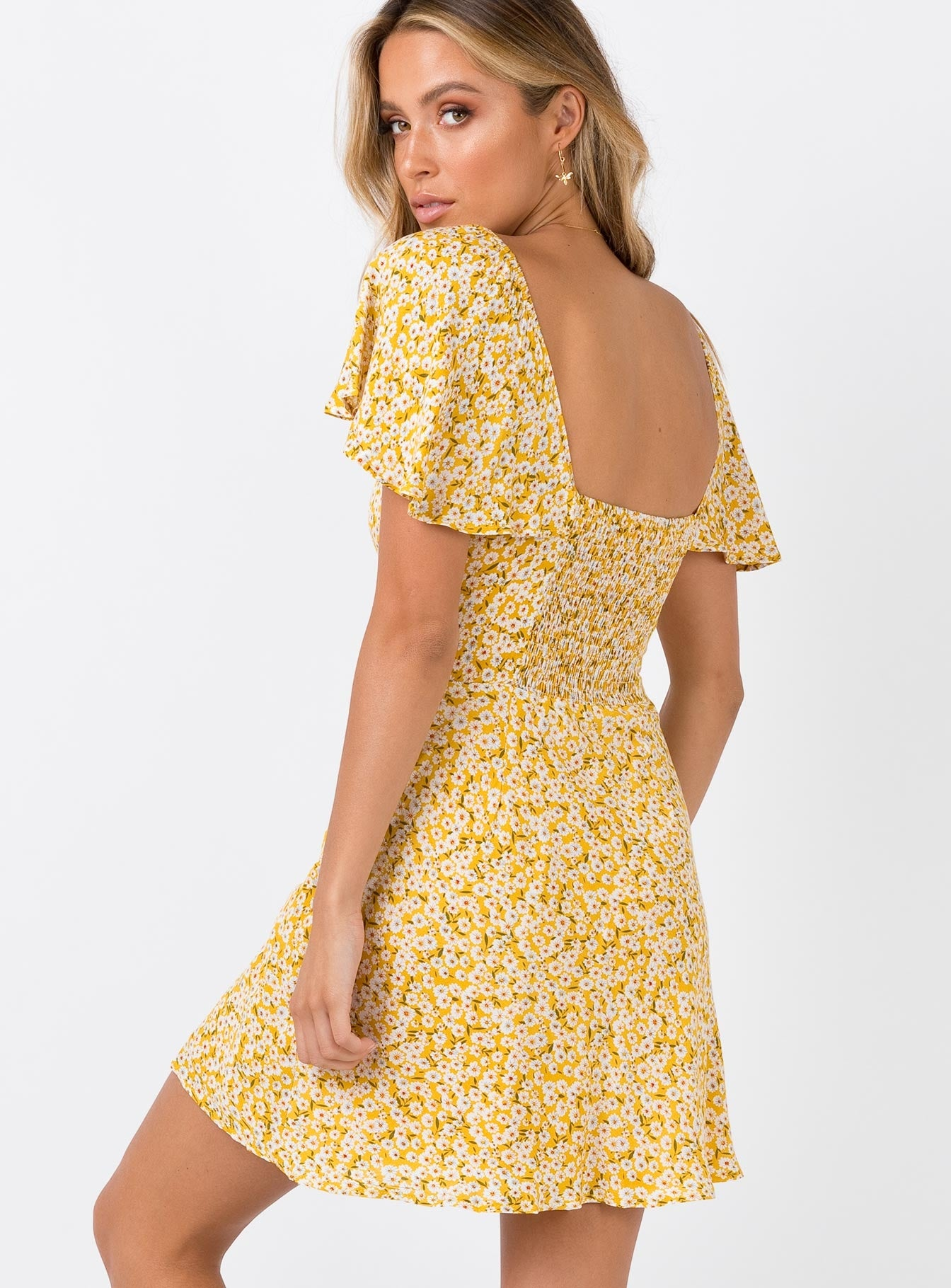 Just A Lover Mini Dress Yellow