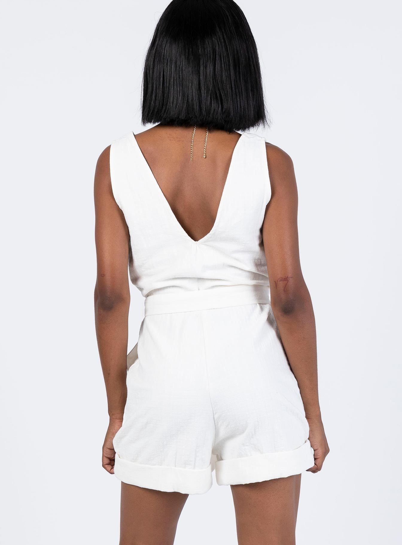 Minkpink Farraday Playsuit White