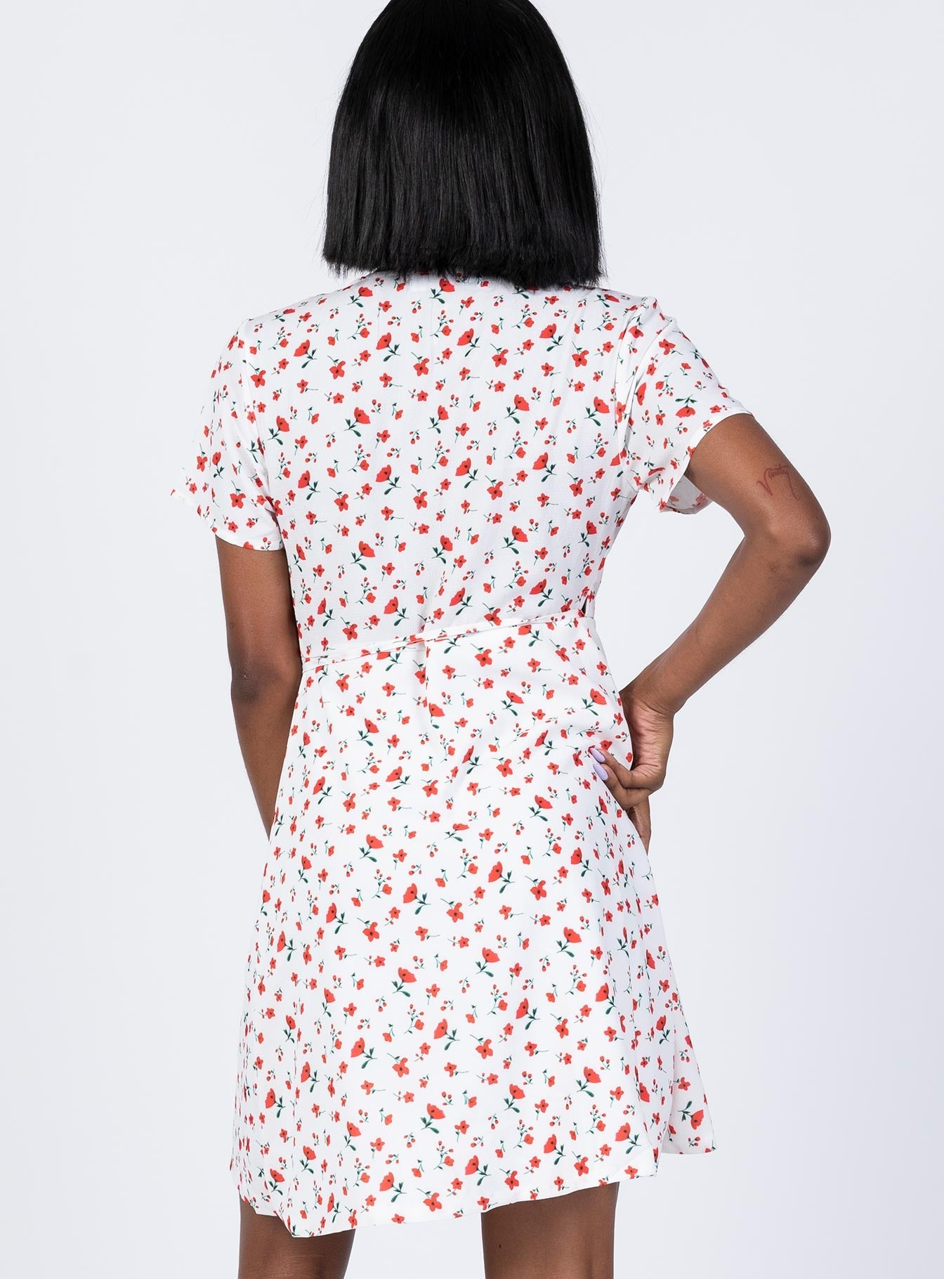 The Cala Mini Dress White