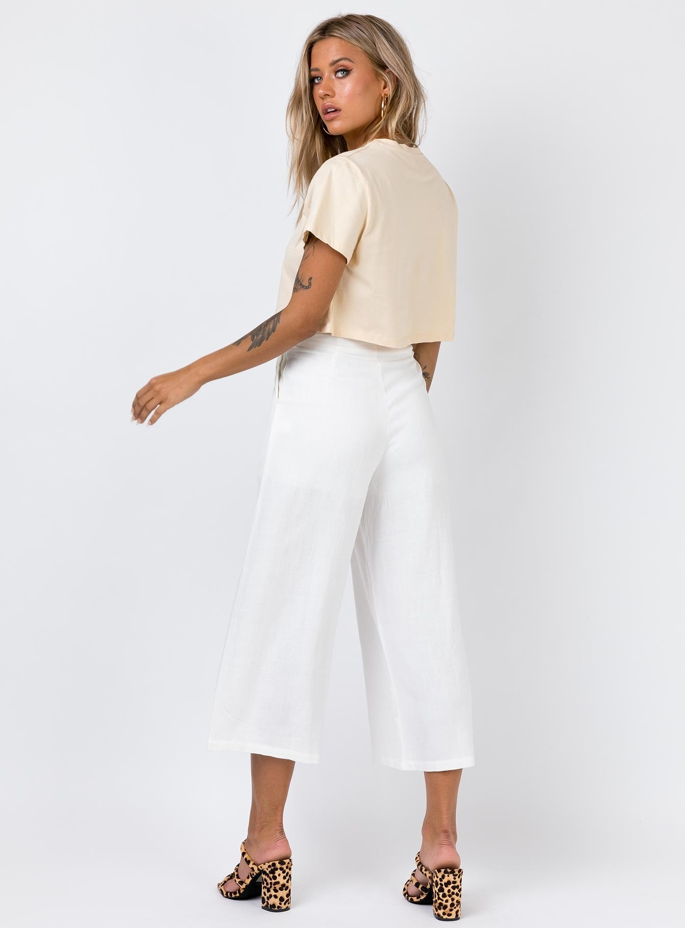 The Harris Pants White