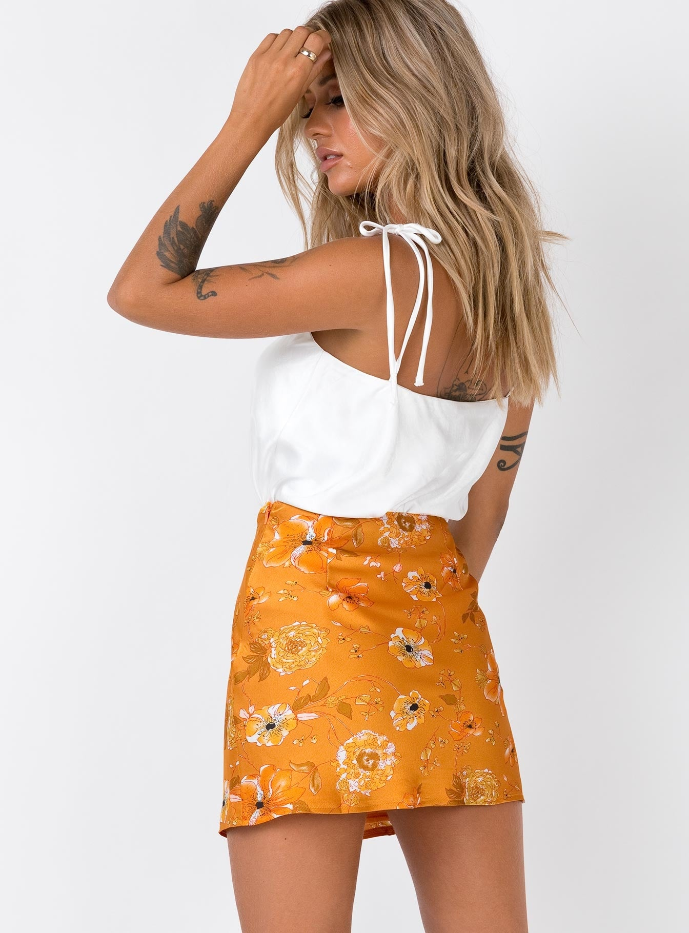 Nocturne Mini Skirt Orange