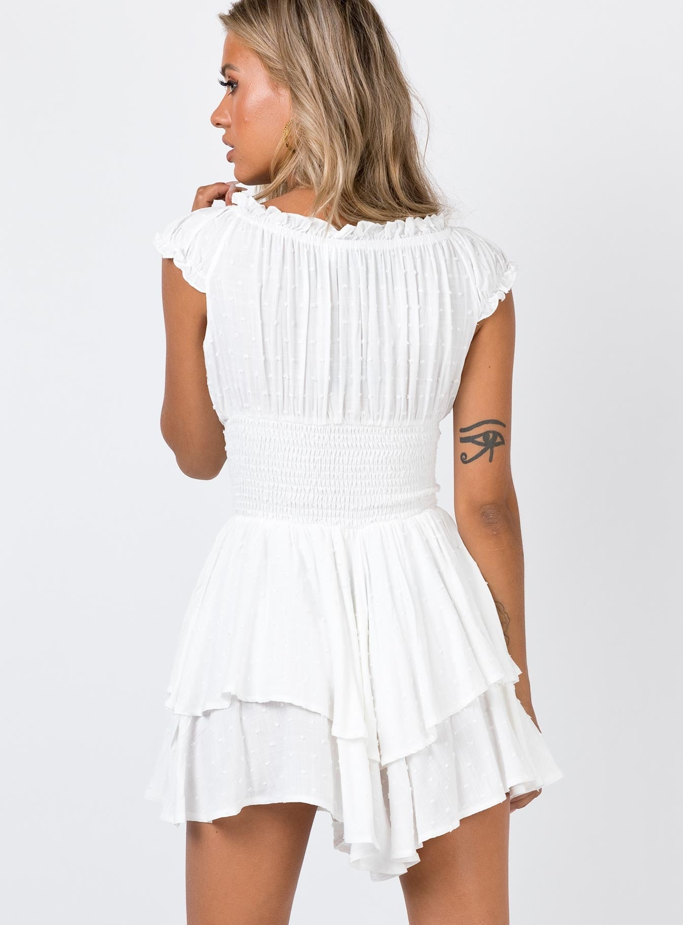 The Love Galore Playsuit White