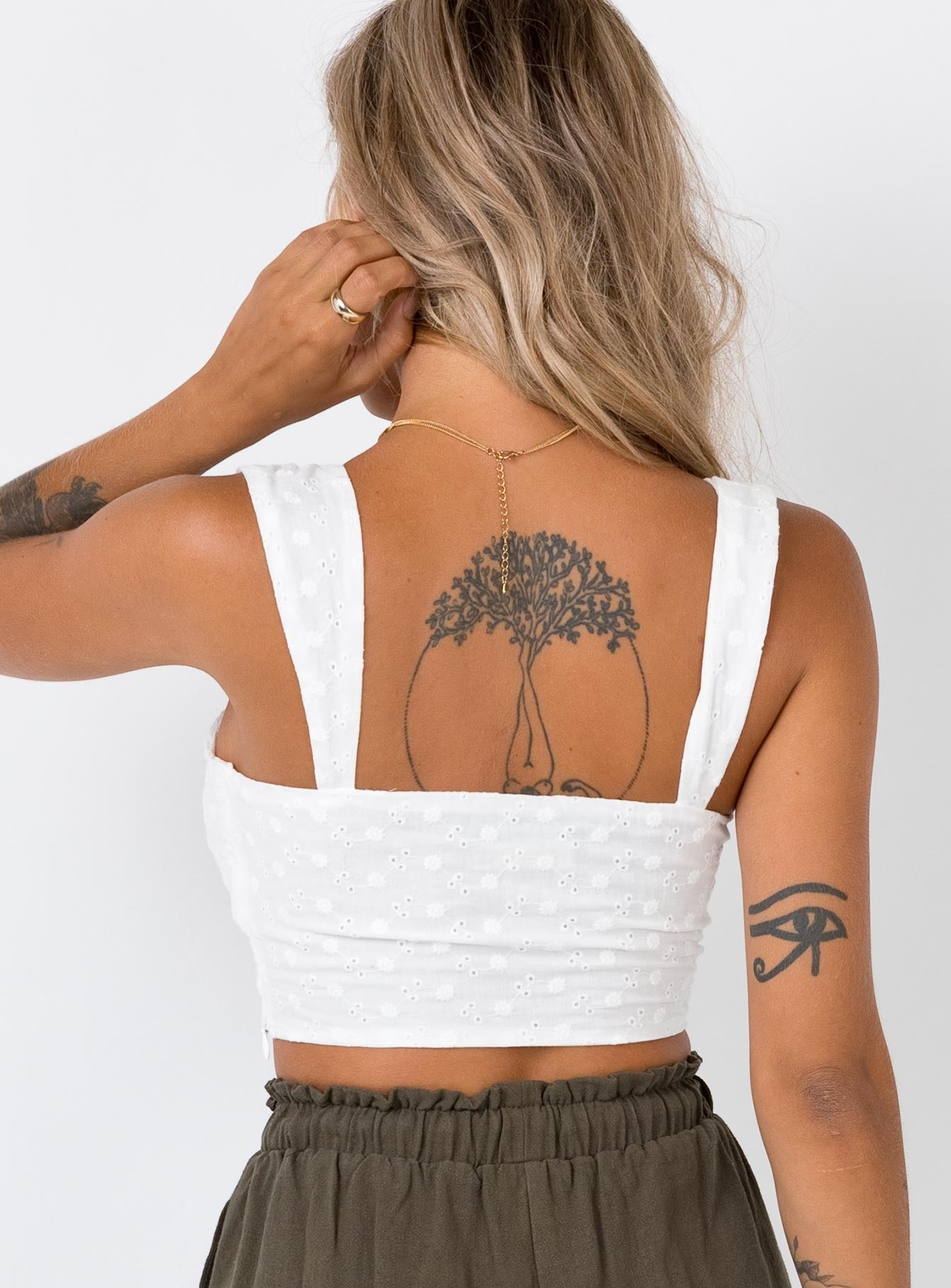 The Ini Crop Top White