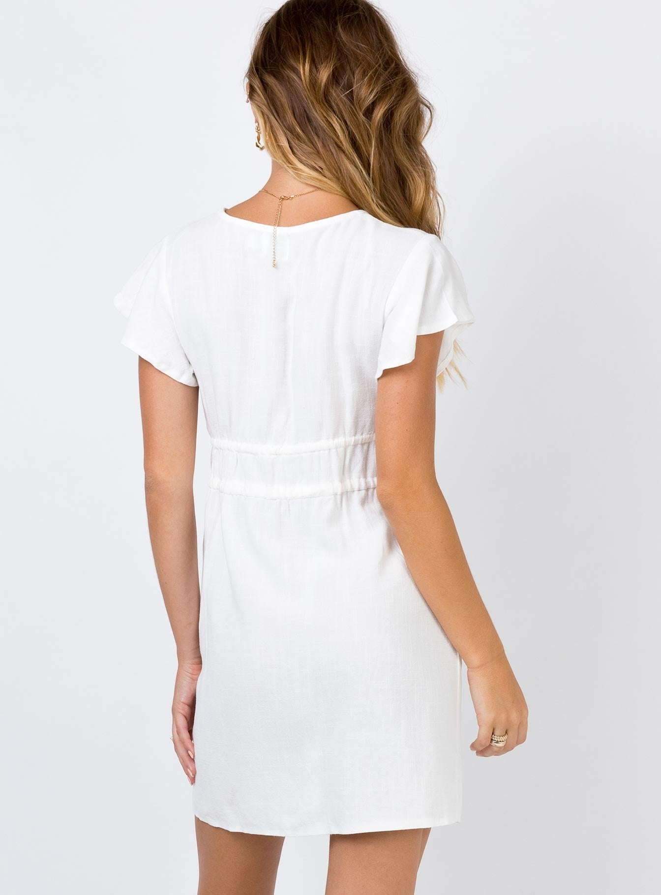 The Pansy Mini Dress Off White