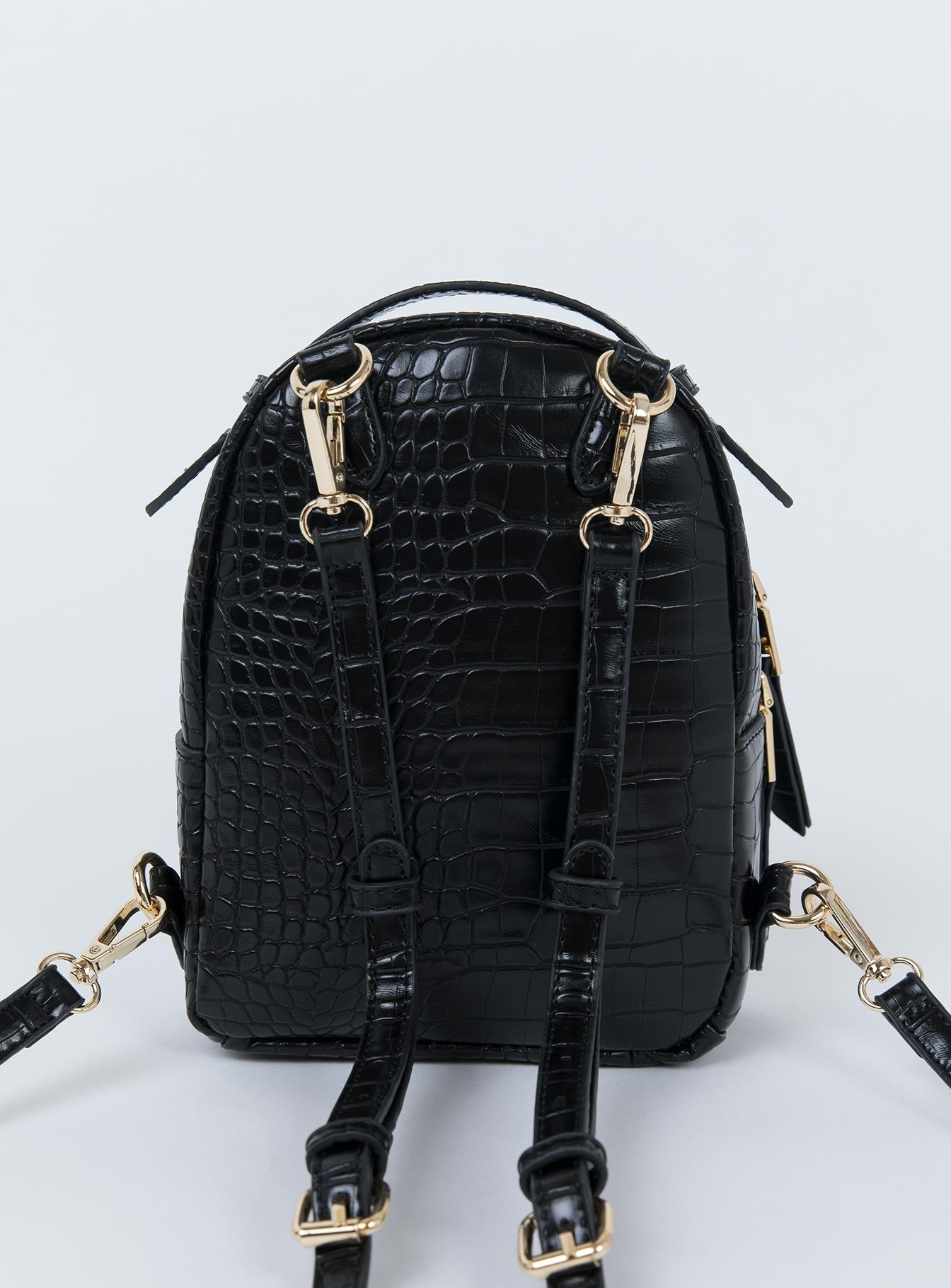 Peta & Jain Zoe Backpack Black Croc