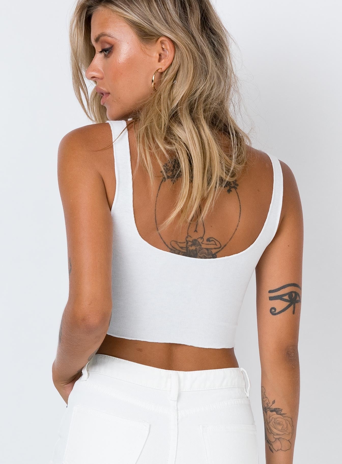 Angel Kiss Tank Top White
