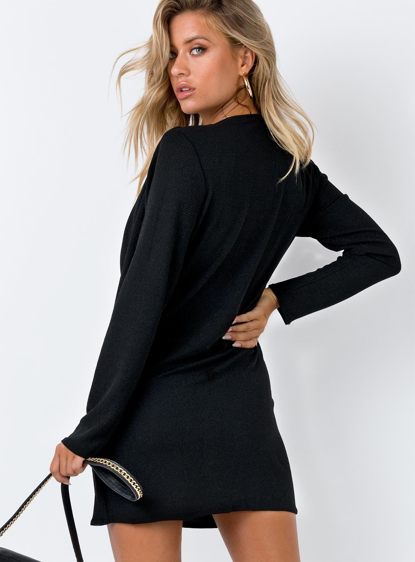 Caliente Long Sleeve Dress Black