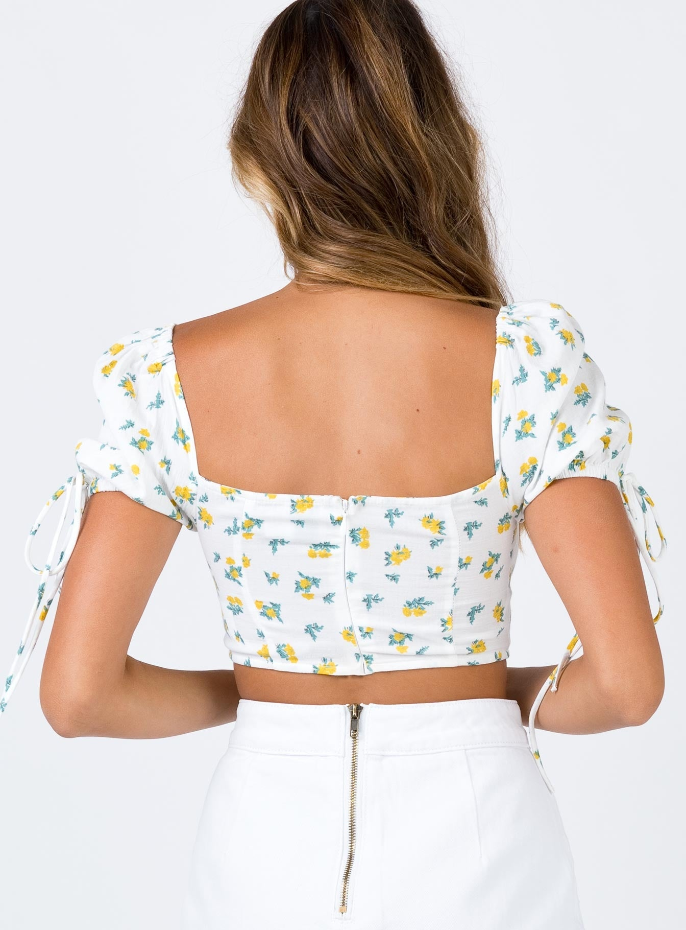 Moresby Crop Top White