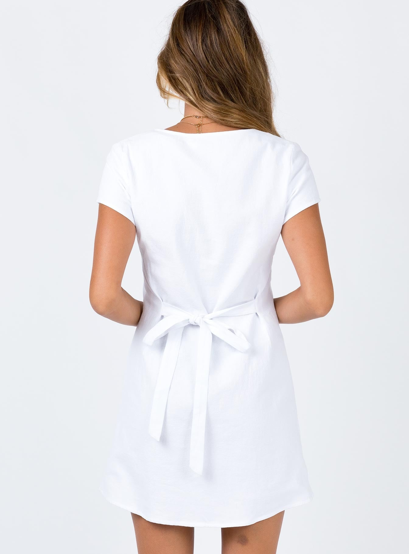 Hibiscus Mini Dress White