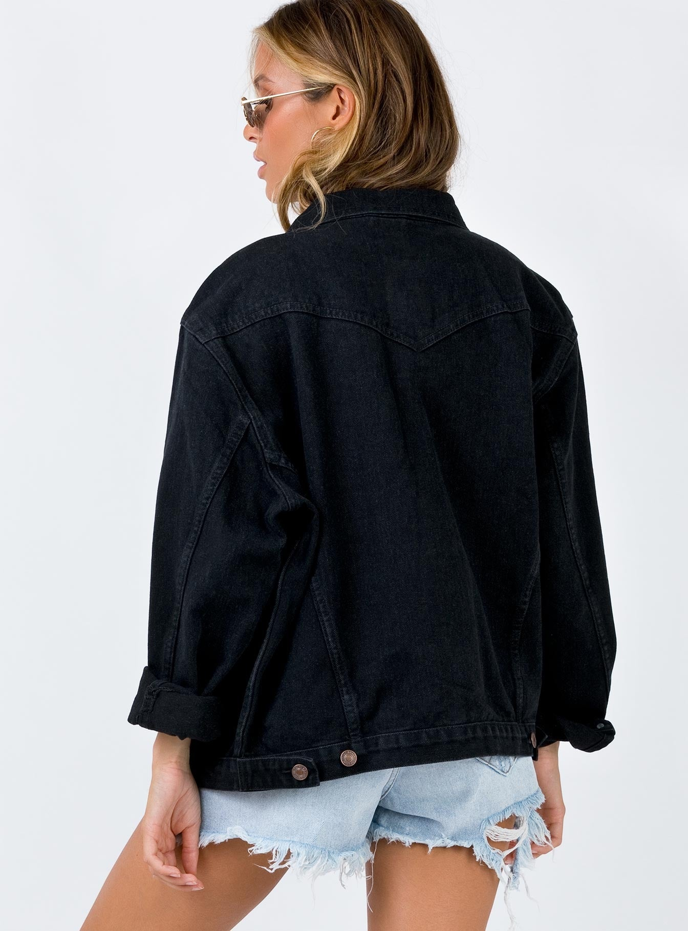 Phoenix Denim Jacket Black