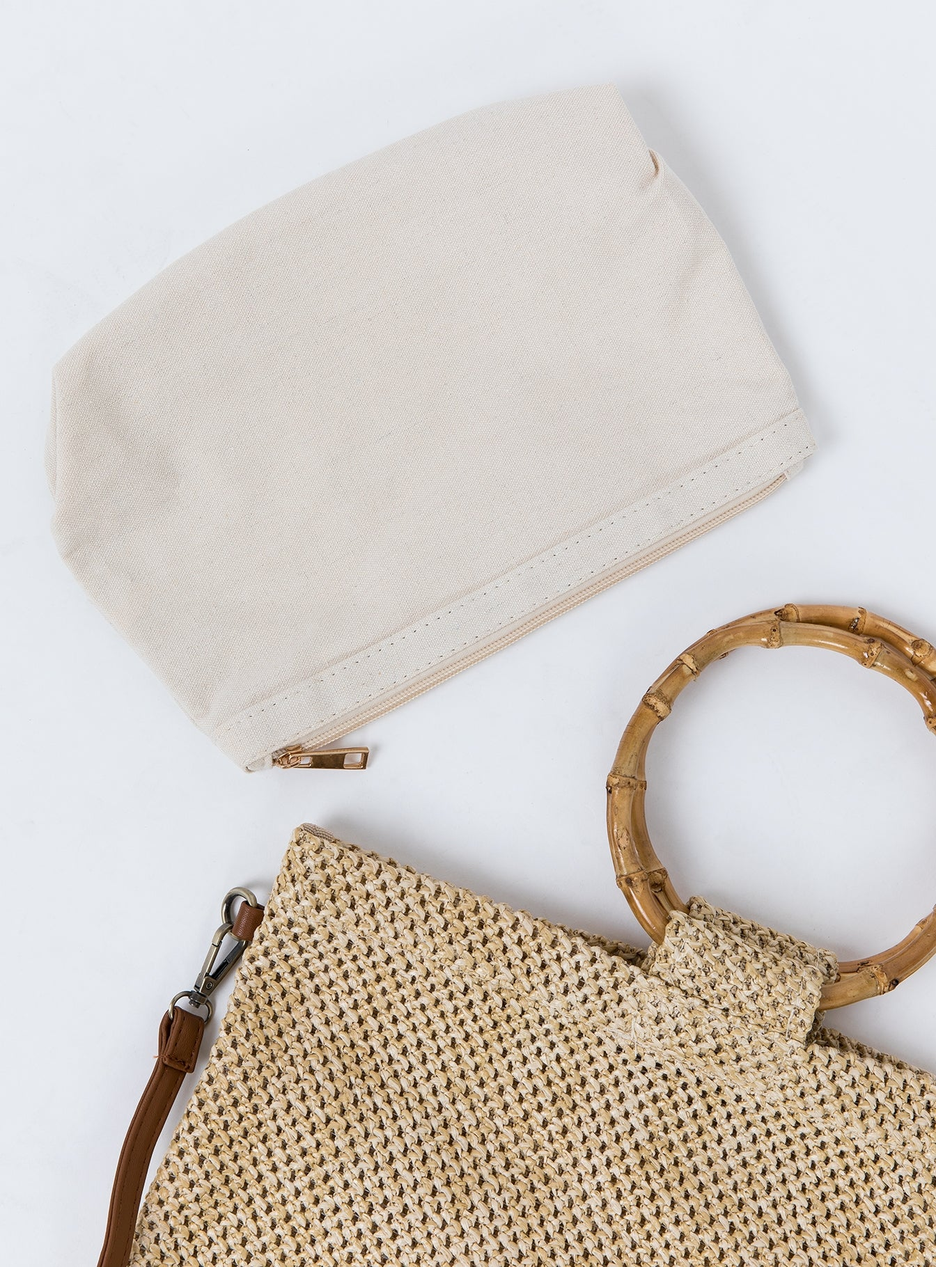 Catch Phrase Woven Bag Natural