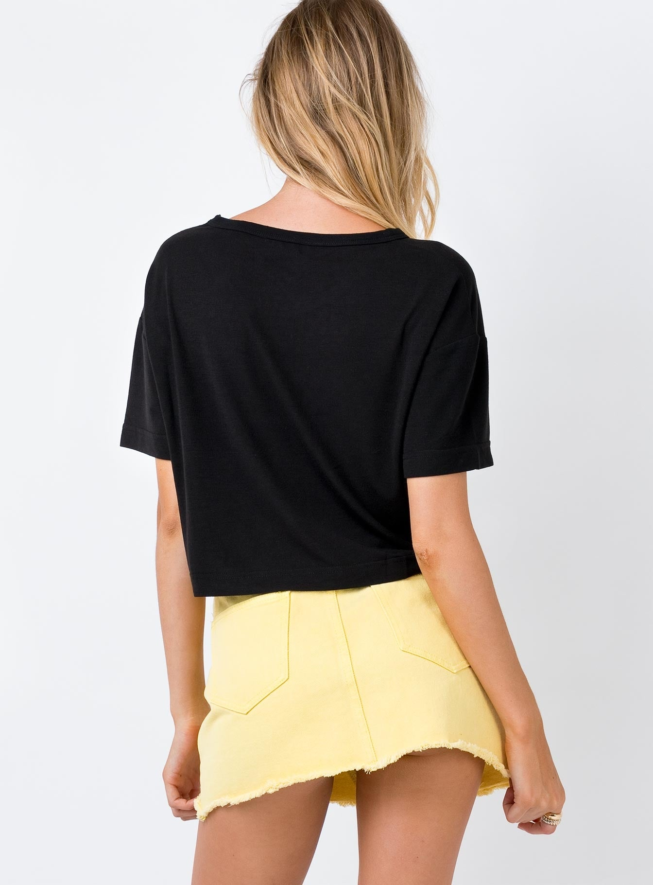 Hallie Denim Mini Skirt Lemon