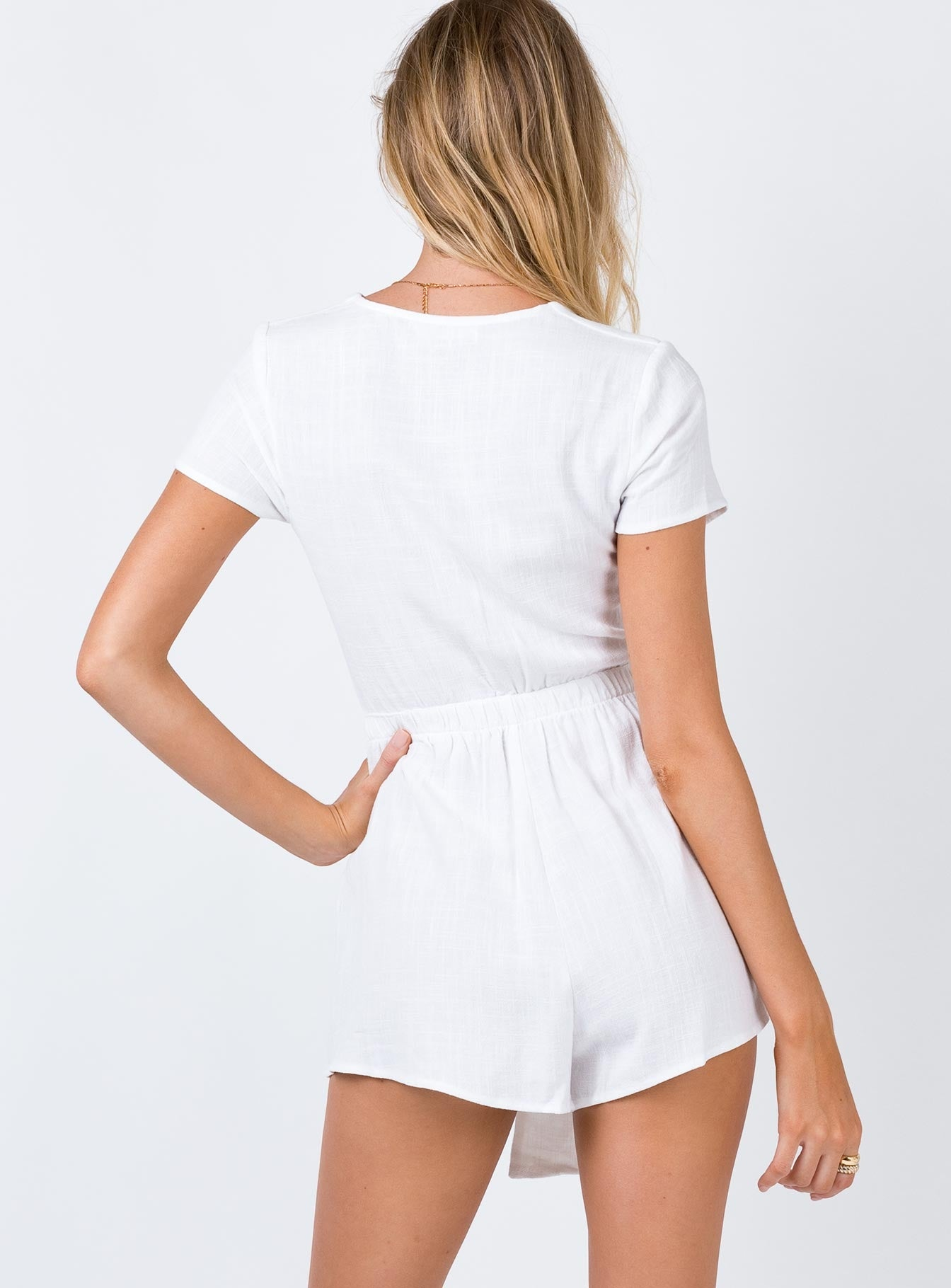 The Ragnar Playsuit White