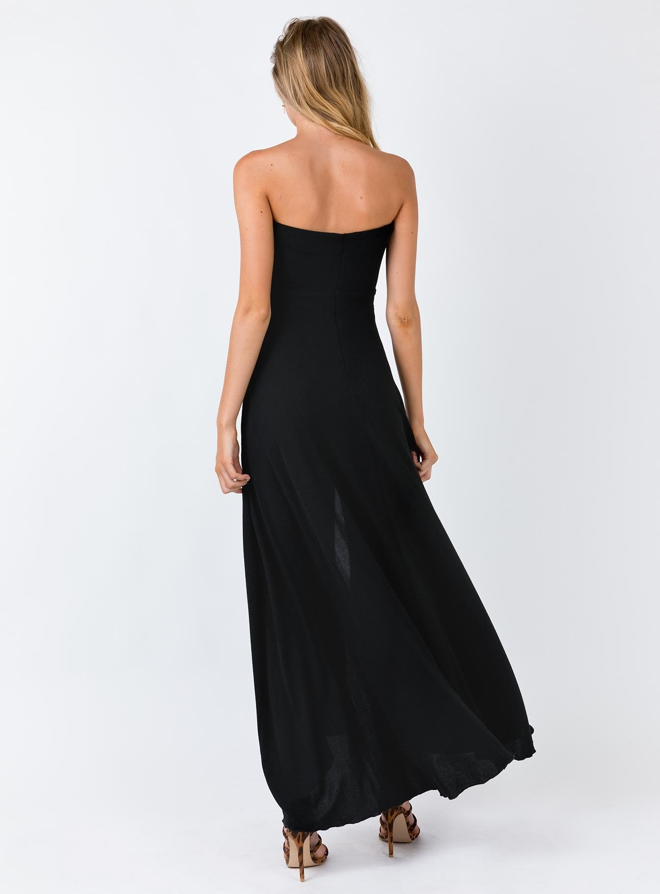 The Adrianne Strapless Maxi Dress Black