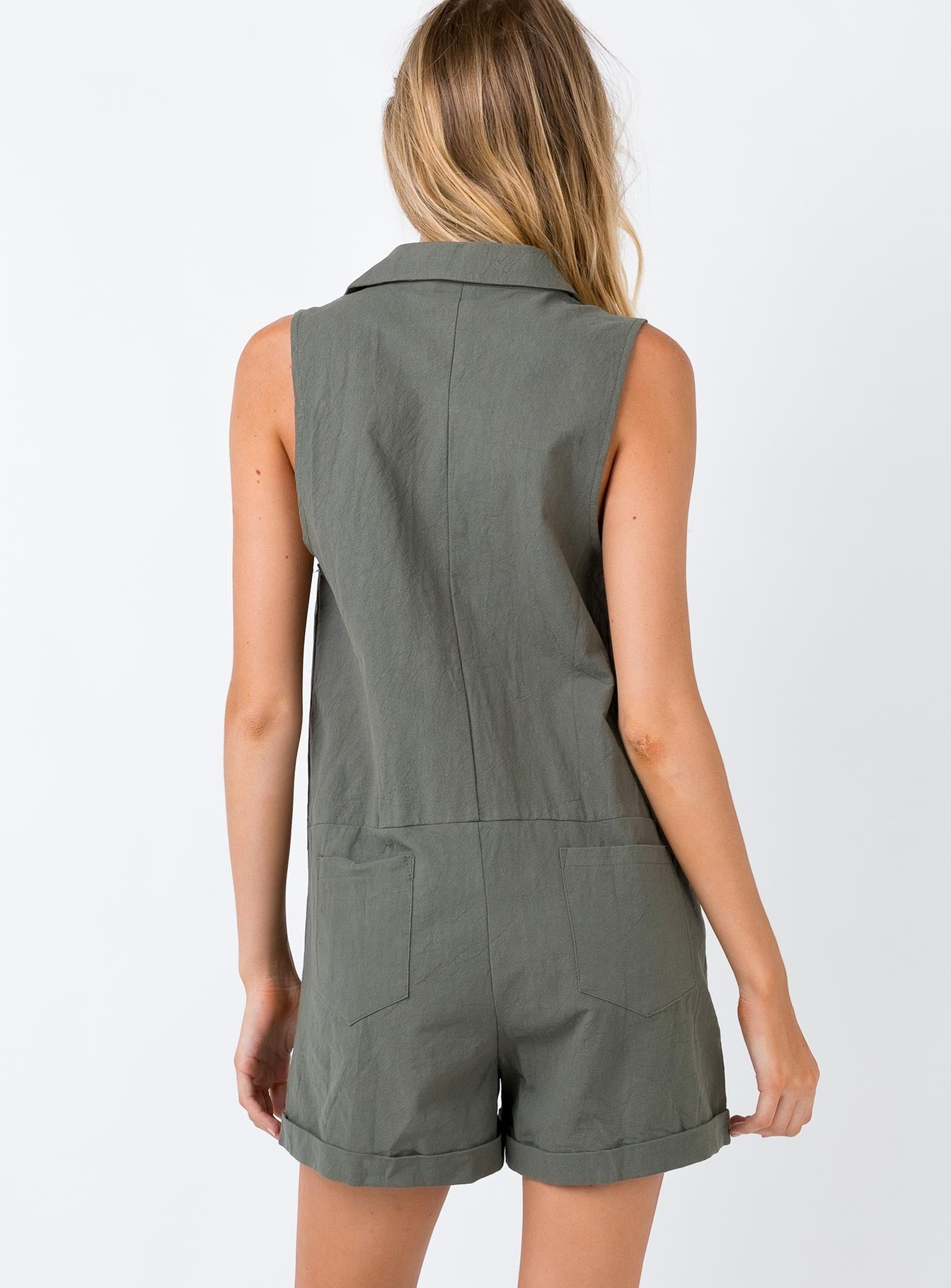 Sutton Playsuit Khaki