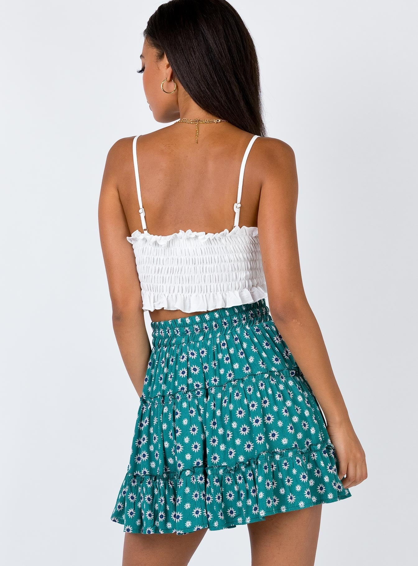 Best Friend Mini Skirt Green