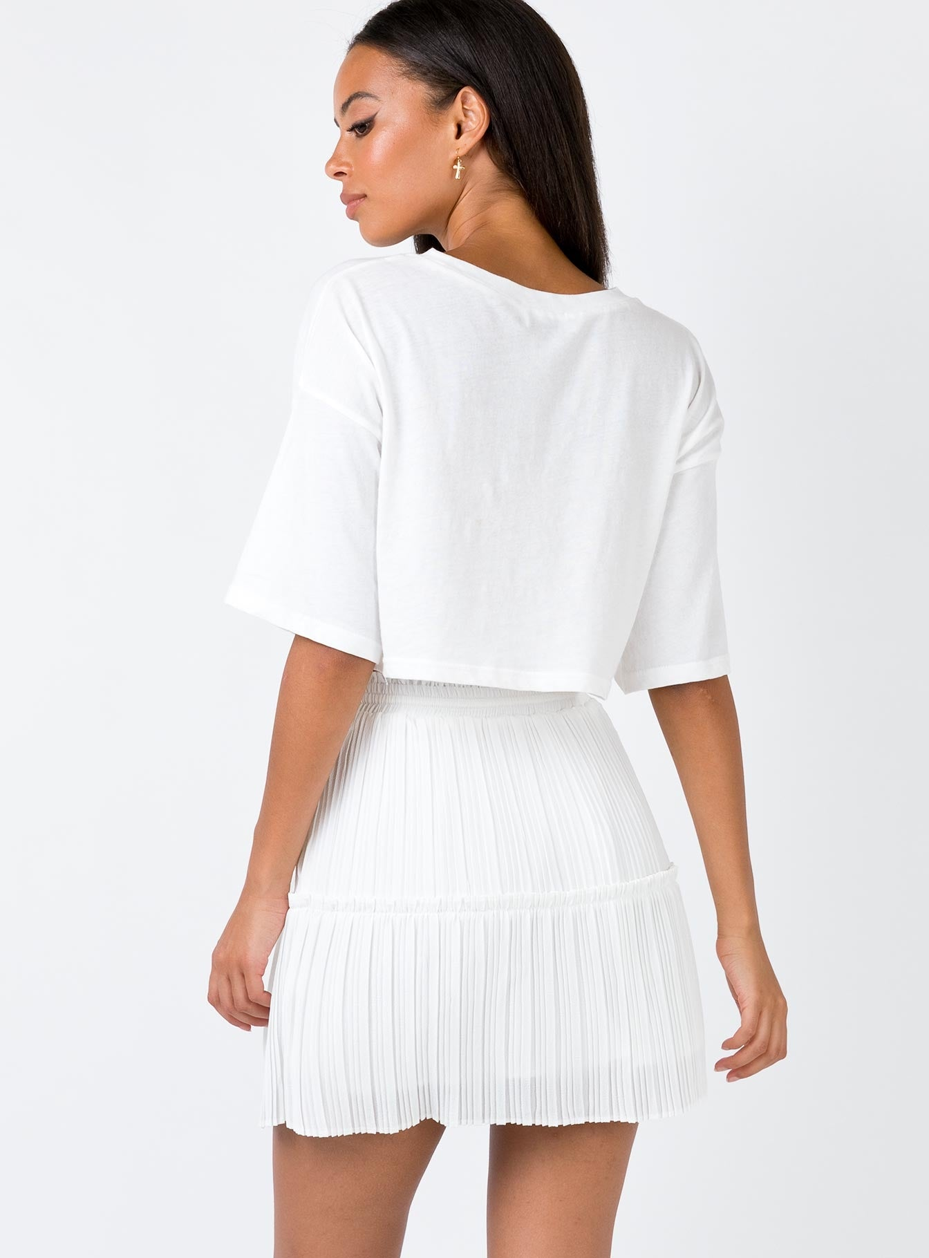 Mraz Mini Skirt White