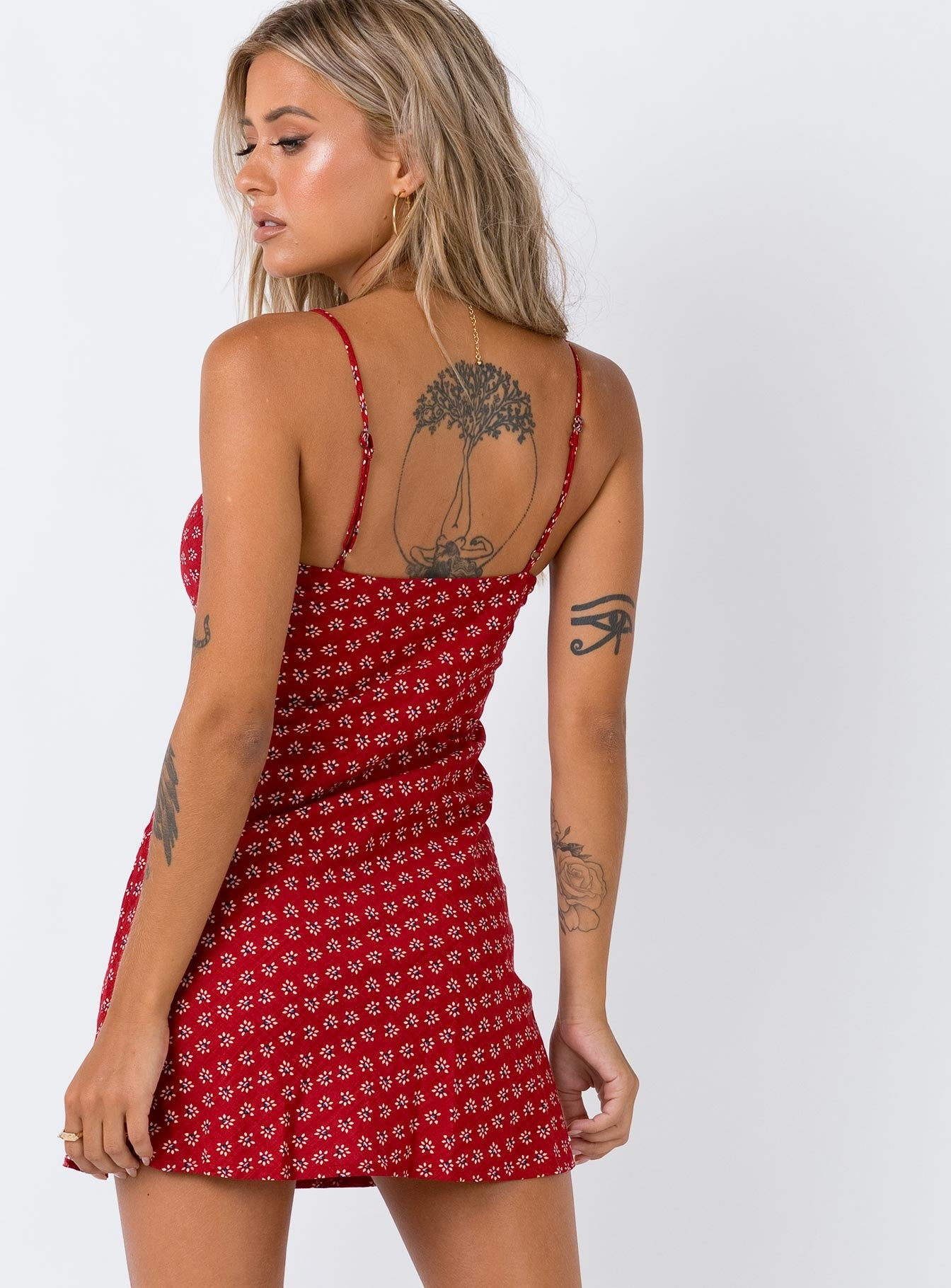 The Luci Mini Dress Red