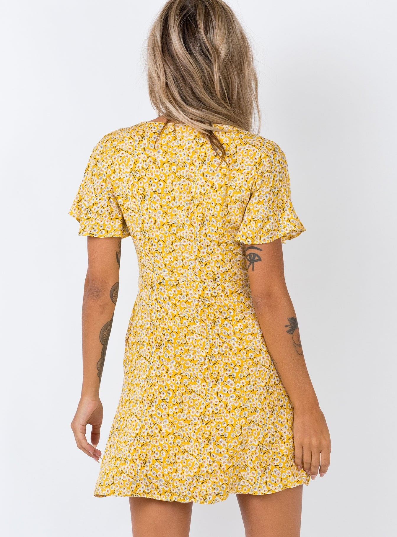 The Same Same Mini Dress Yellow
