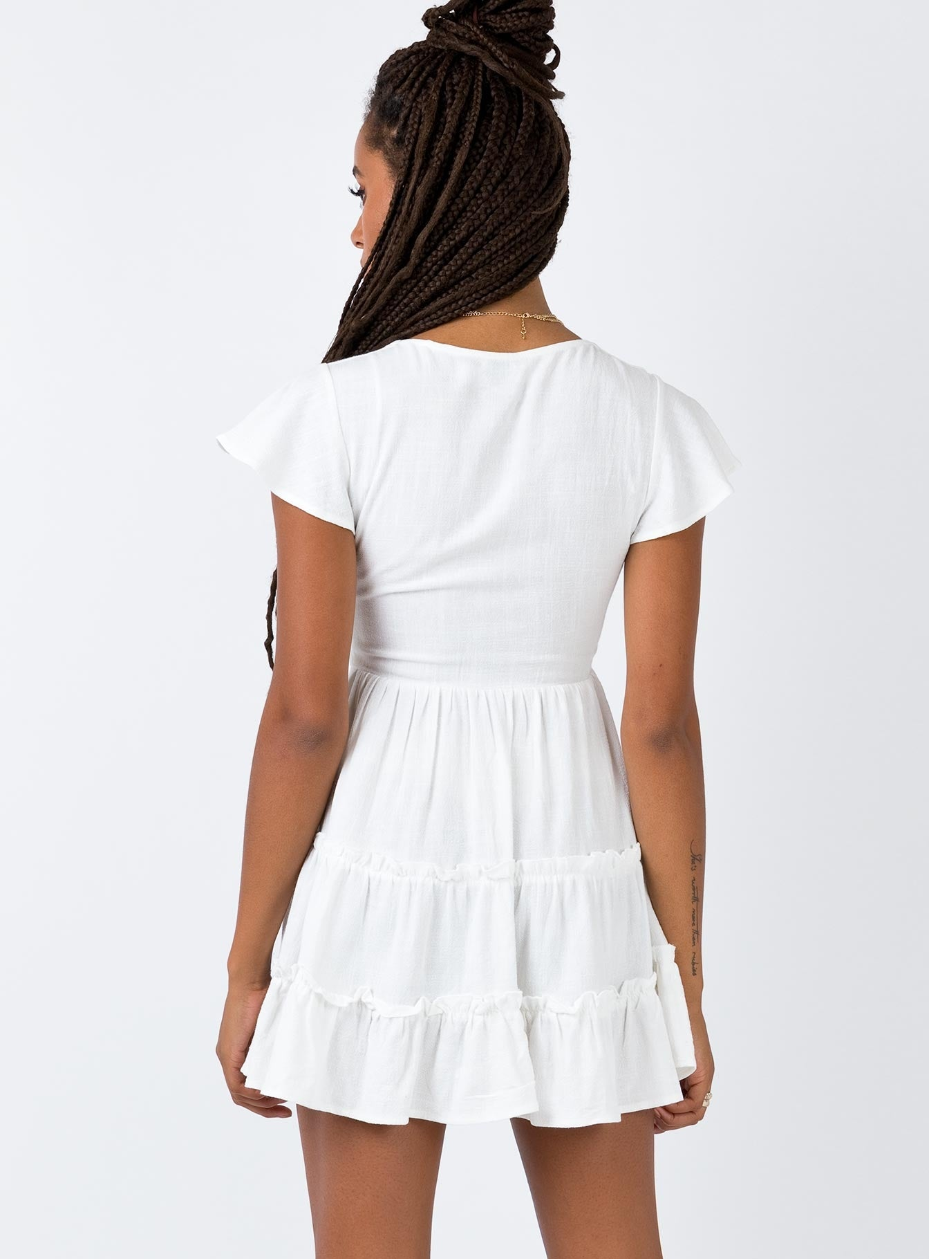 The Foster Mini Dress Off White