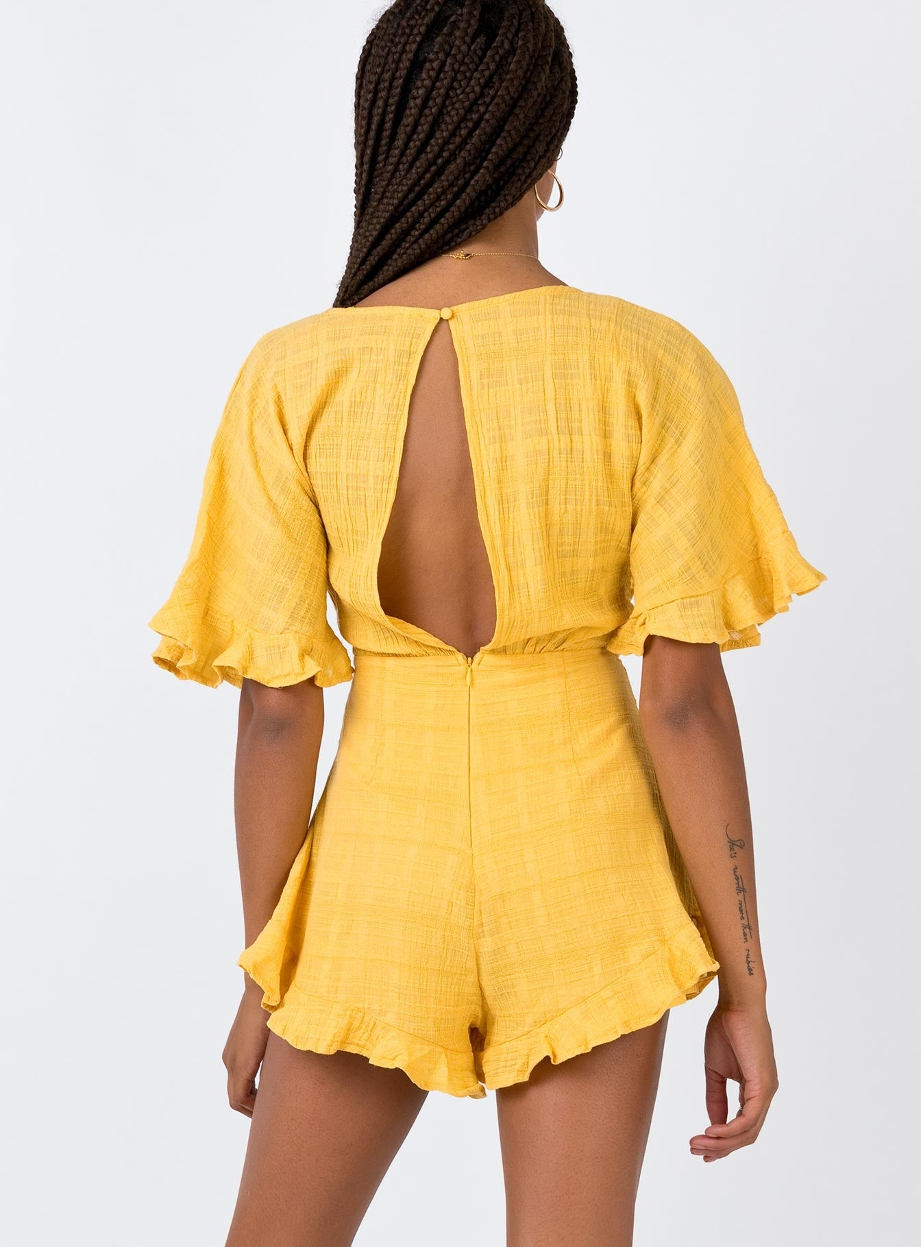 The Looker Playsuit Yellow