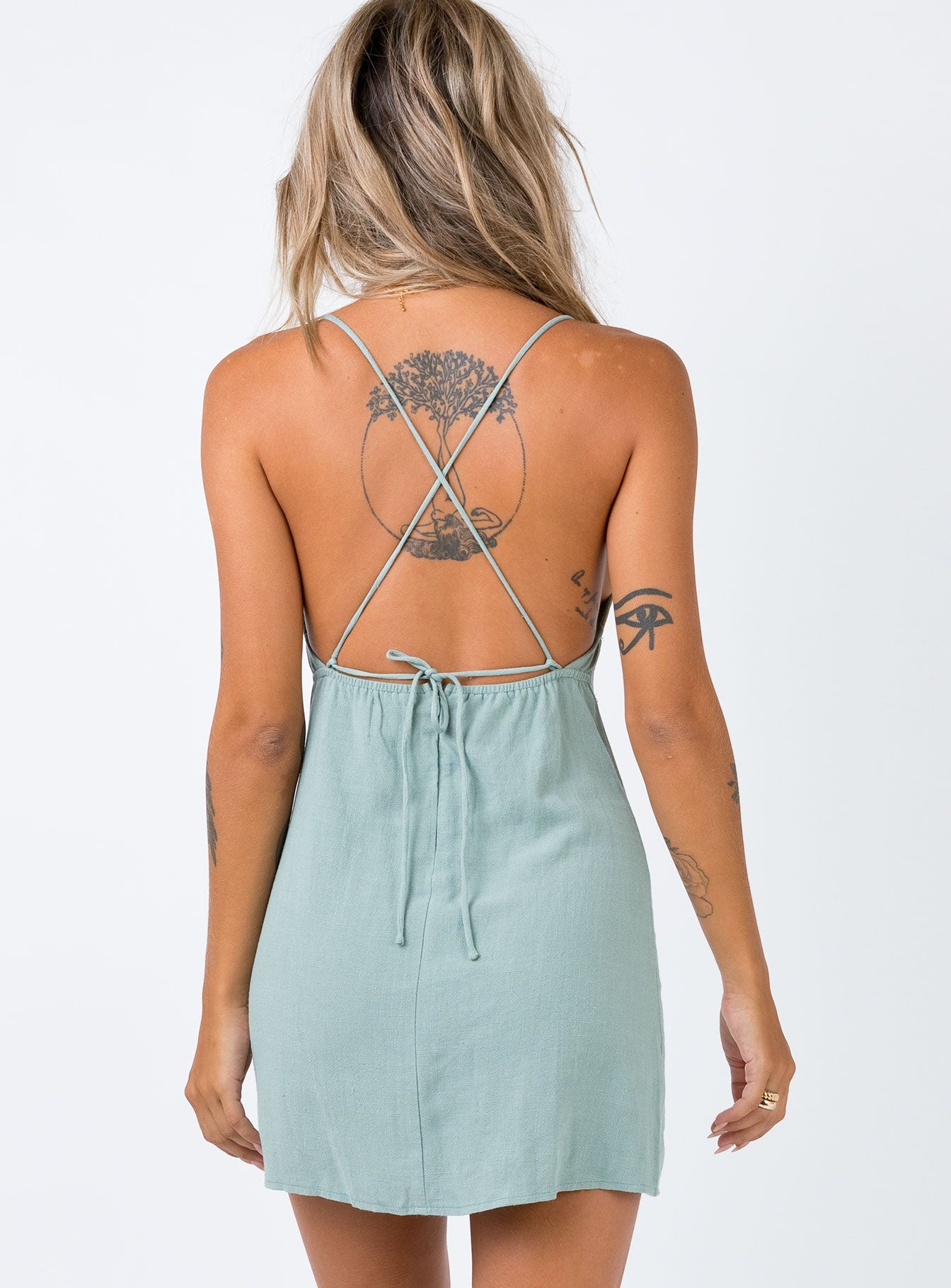 Sinclair Mini Dress Sage
