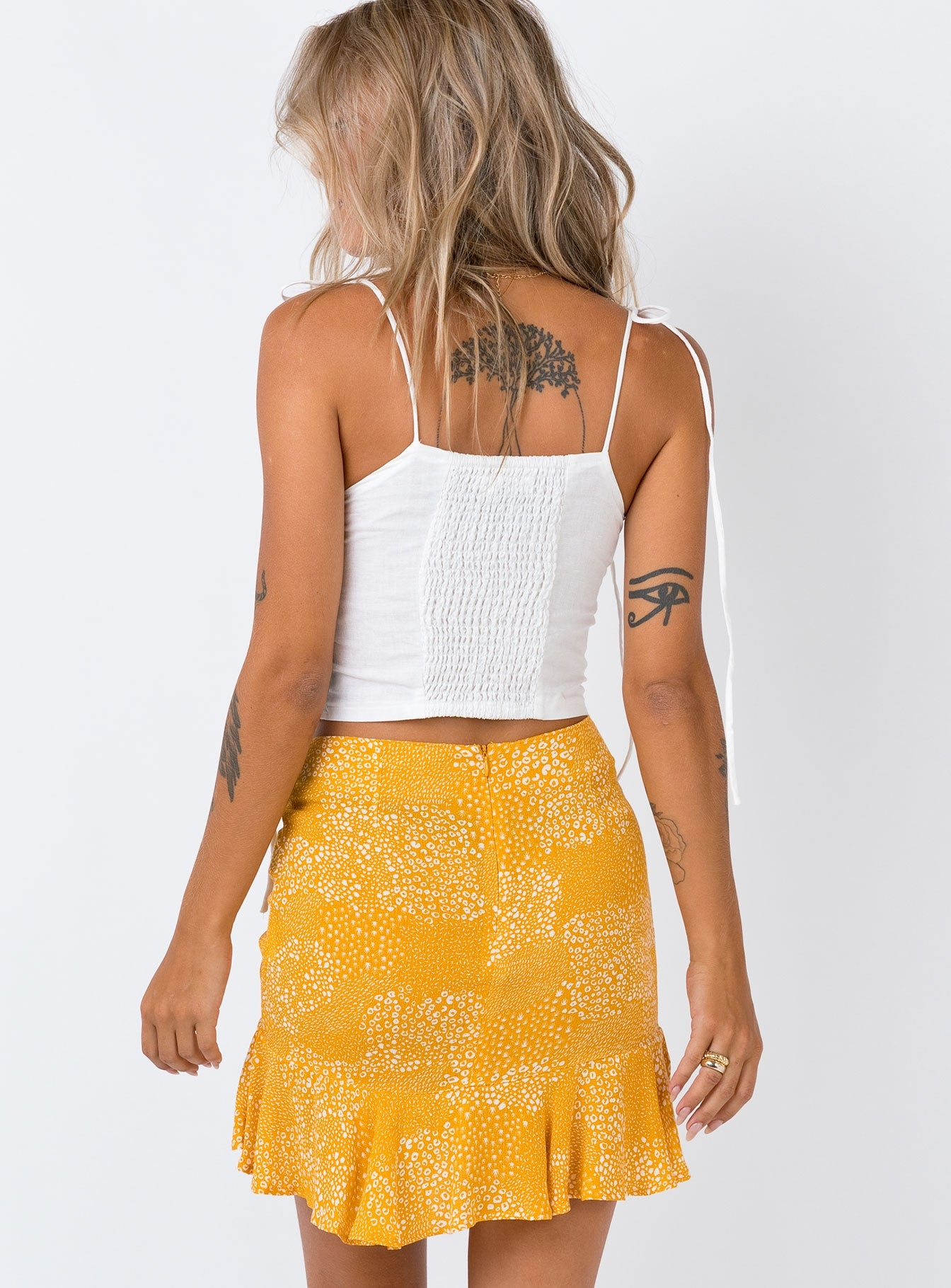 Minkpink Golden Safari Mini Skirt Yellow